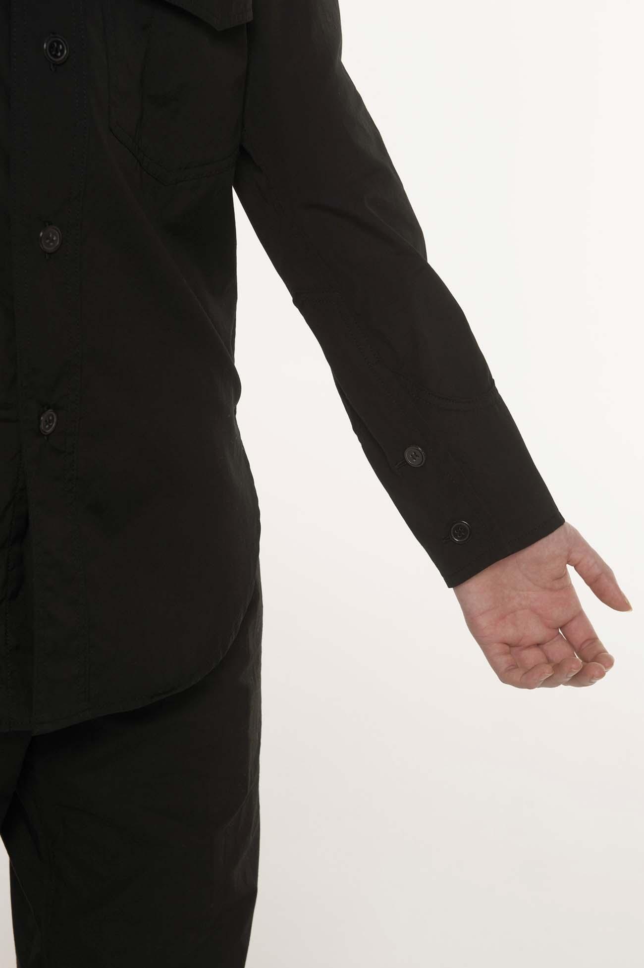 军用风长袖帅气衬衫