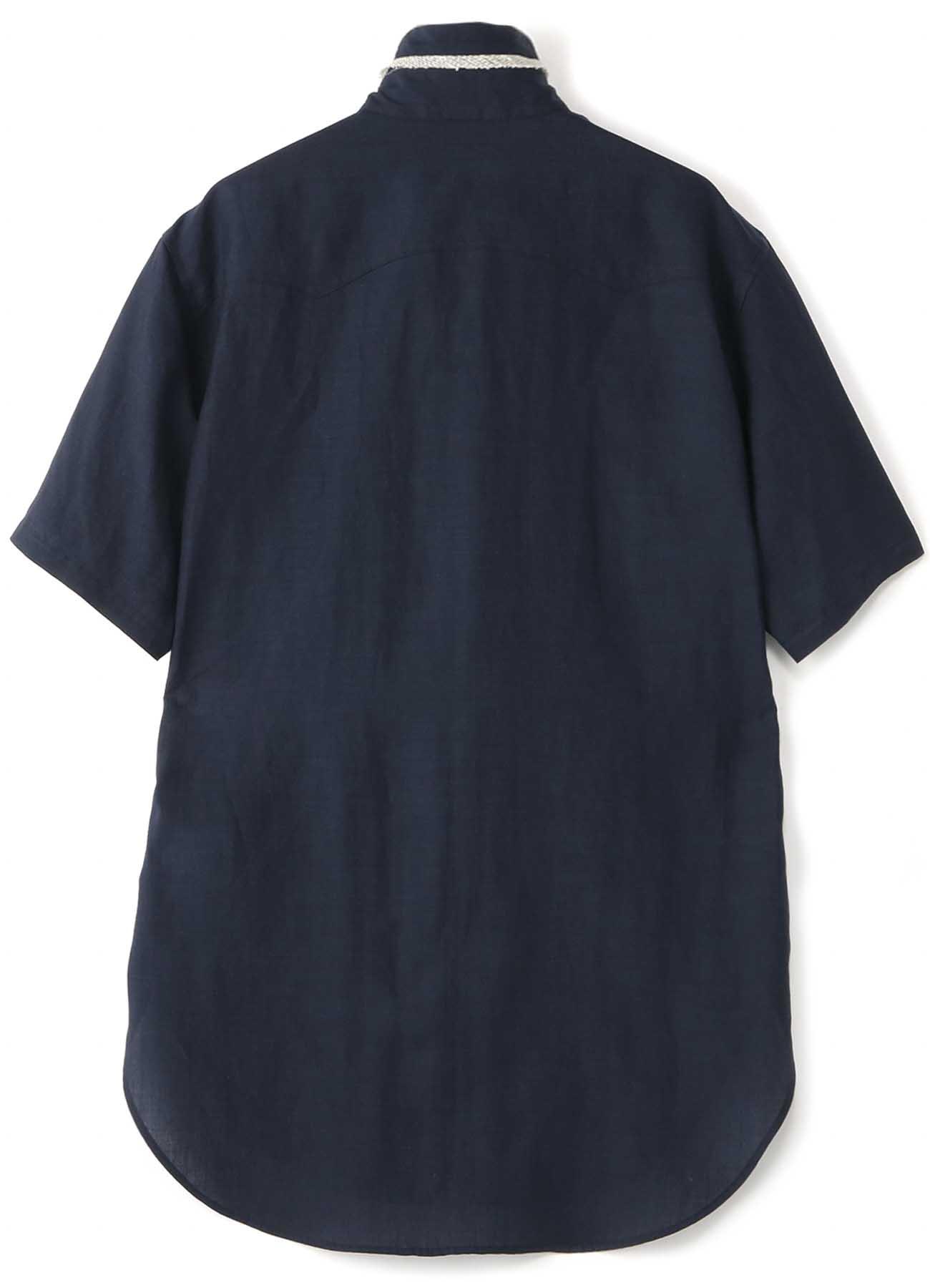 Lyocell ie麻天然草坪短袖军事衬衫