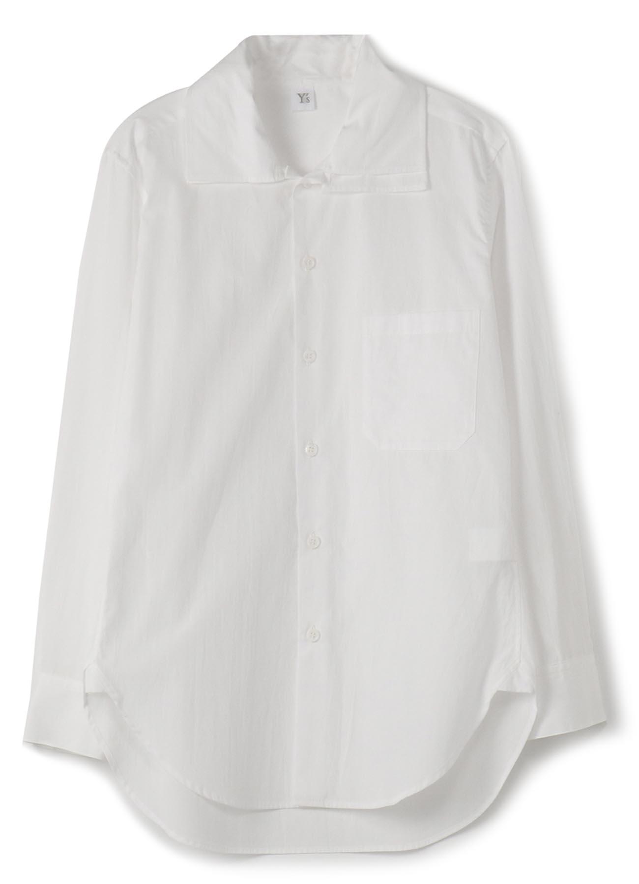 棉质宽领衬衫
