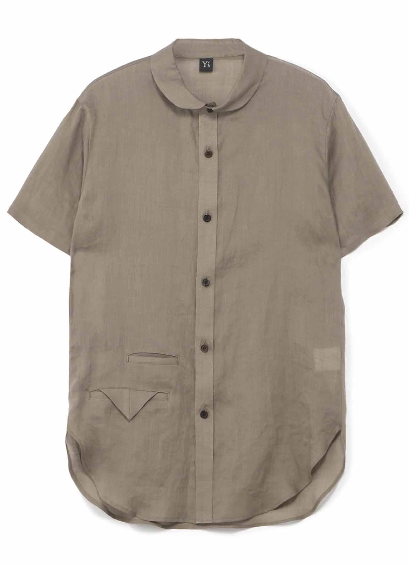 翻转口袋短袖衬衫