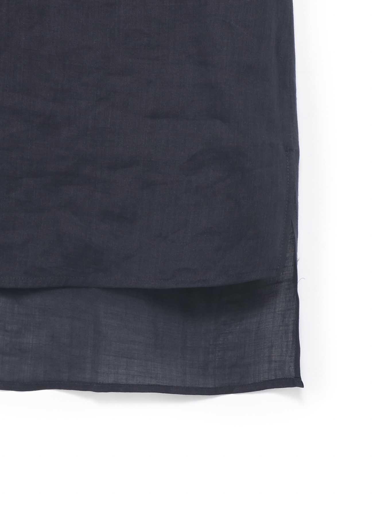 右侧腋下卷裹装饰设计无袖上衣