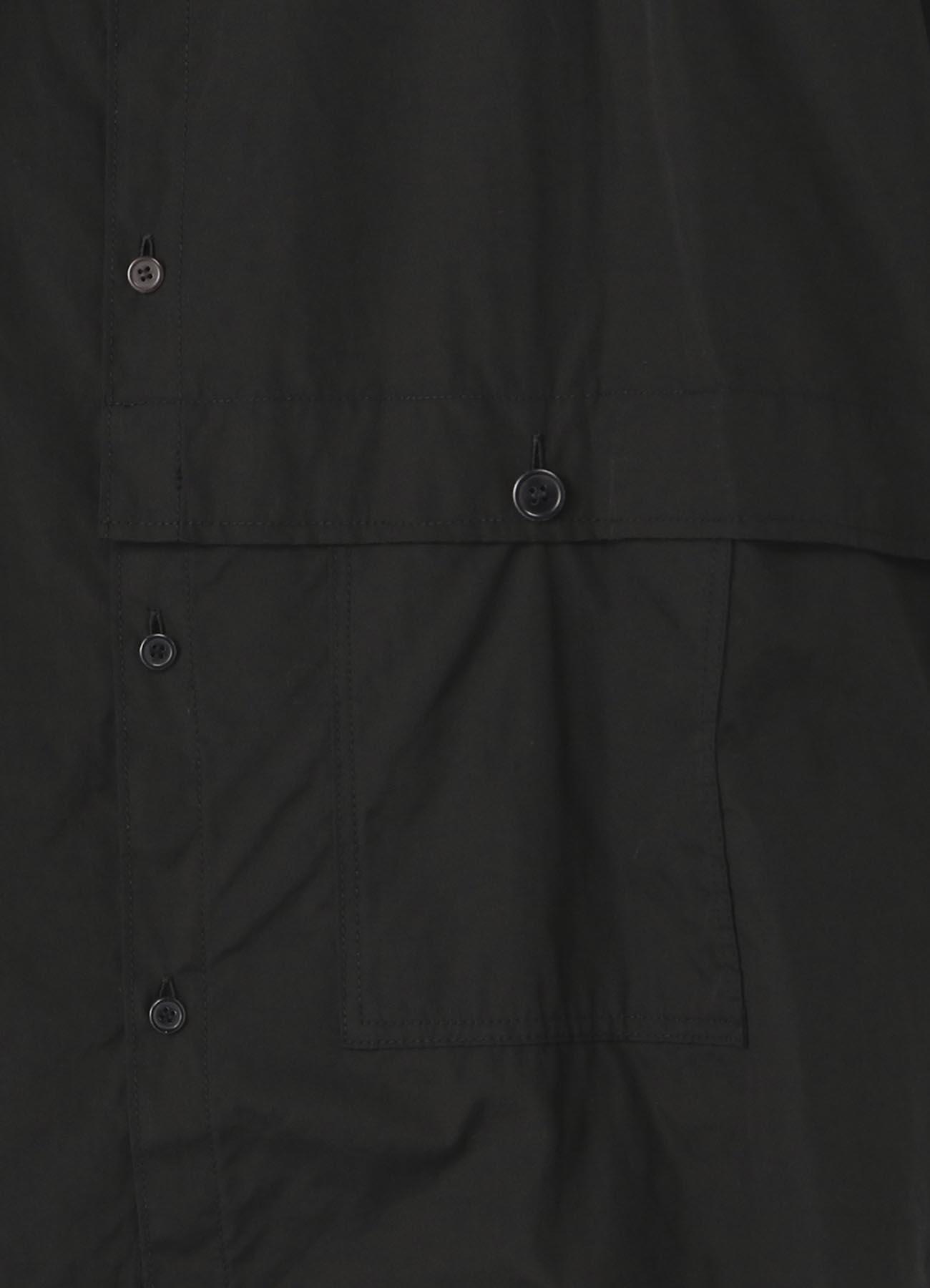 不对称设计长款口袋衬衫