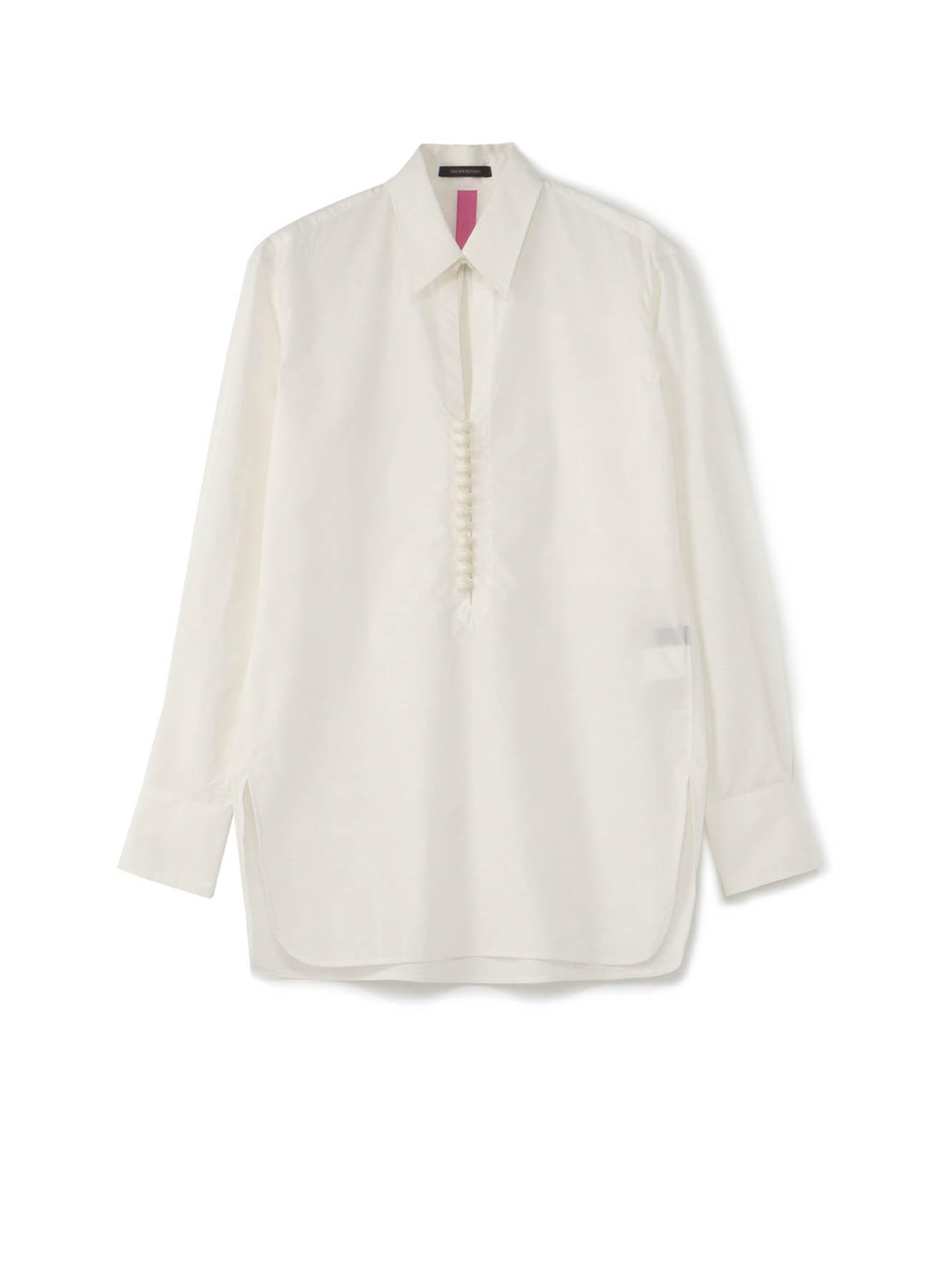 Y'sPINK 棉·混纺 球形纽扣衬衫