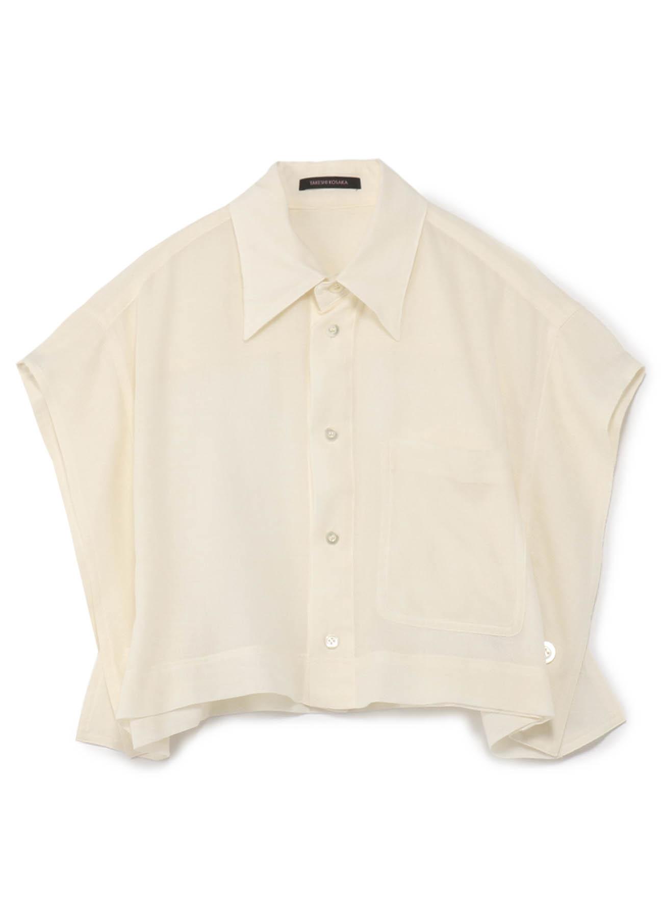短款四角无袖衬衫