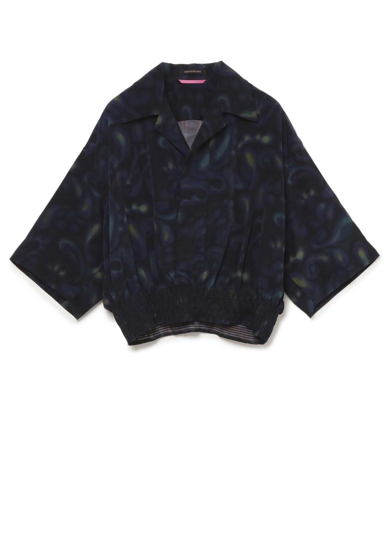 ペイズリープリント スモックシャツ
