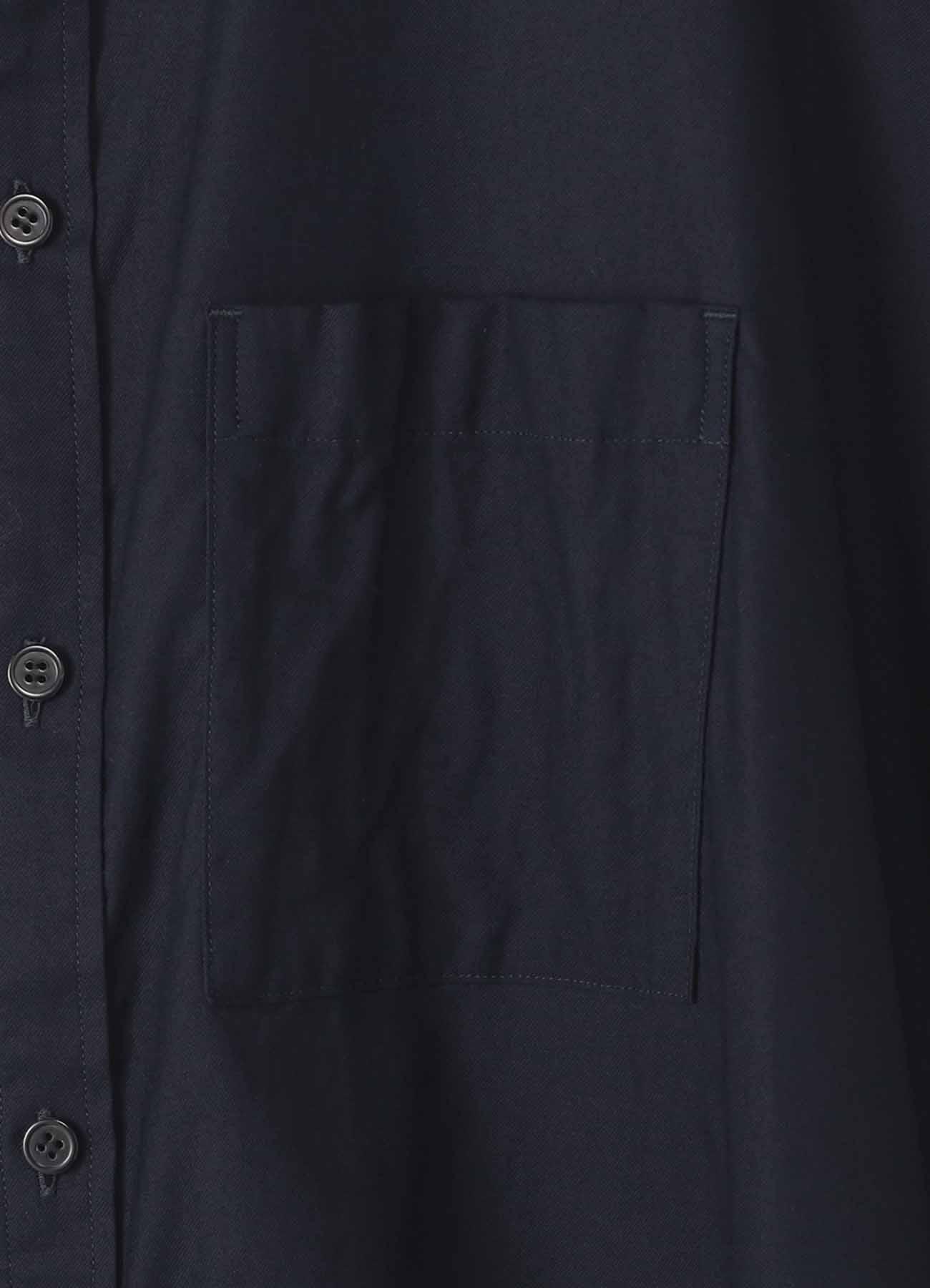 Y's-BORN PRODUCT薄棉质斜纹卷边大上衣