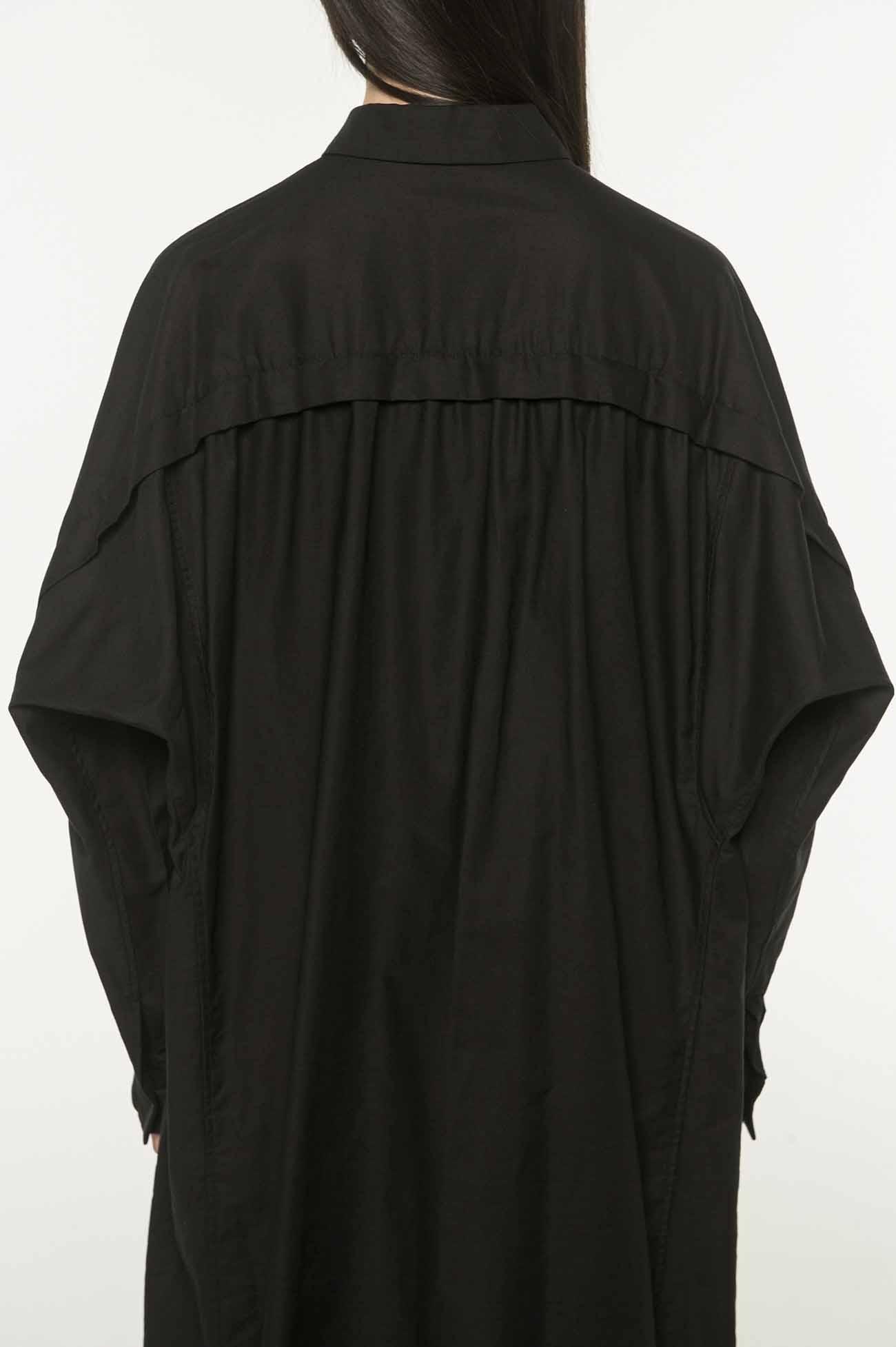 Y's-BORN PRODUCT棉质斜纹长衬衫