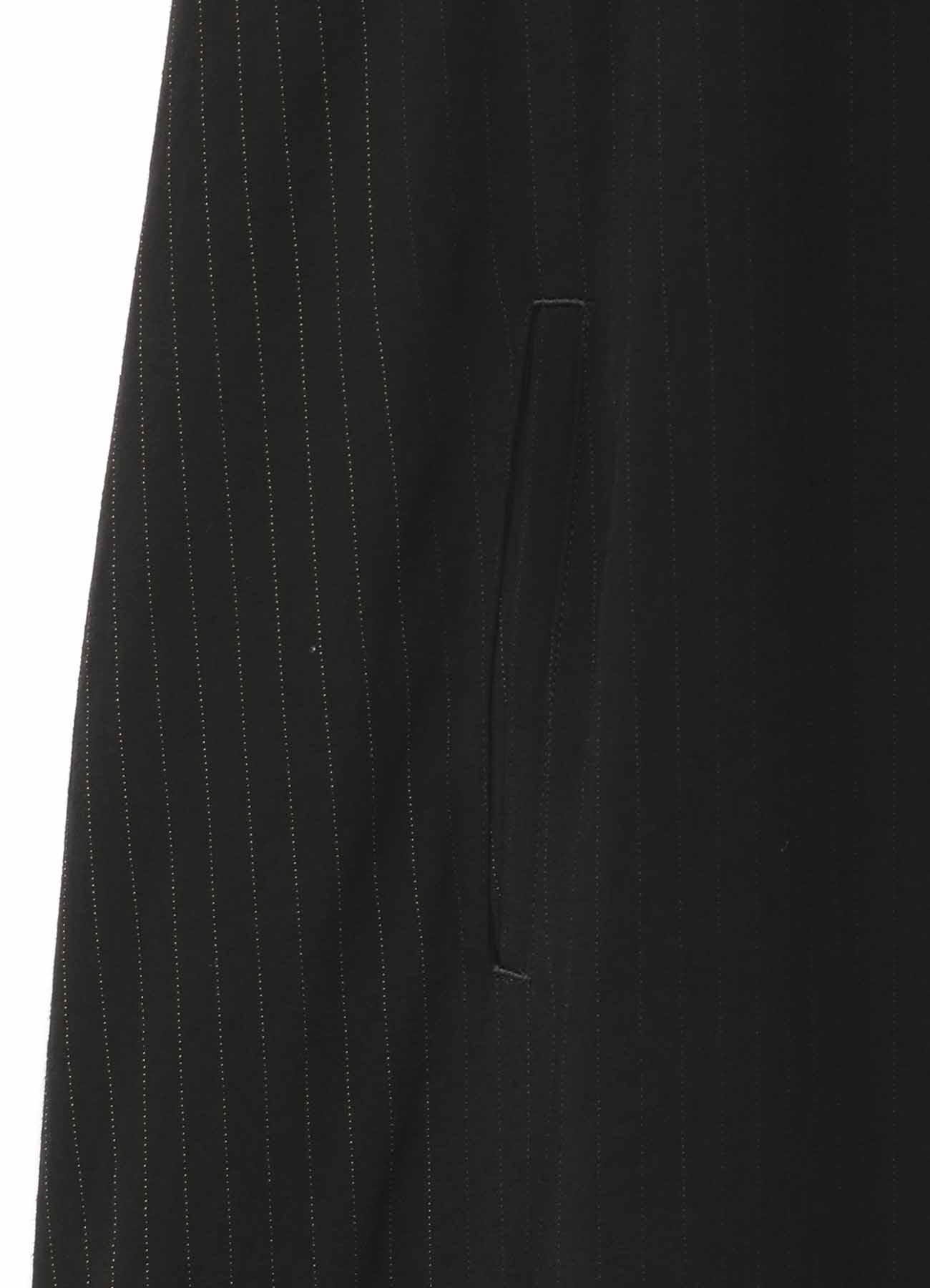 人造丝缎面条纹翻盖口袋衬衫裙