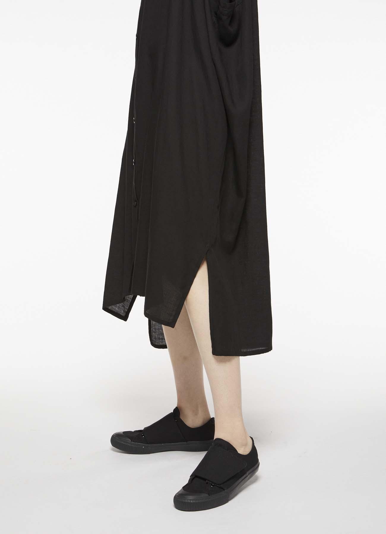 テンセルコットンリネンビエラ フラップポケットシャツドレス