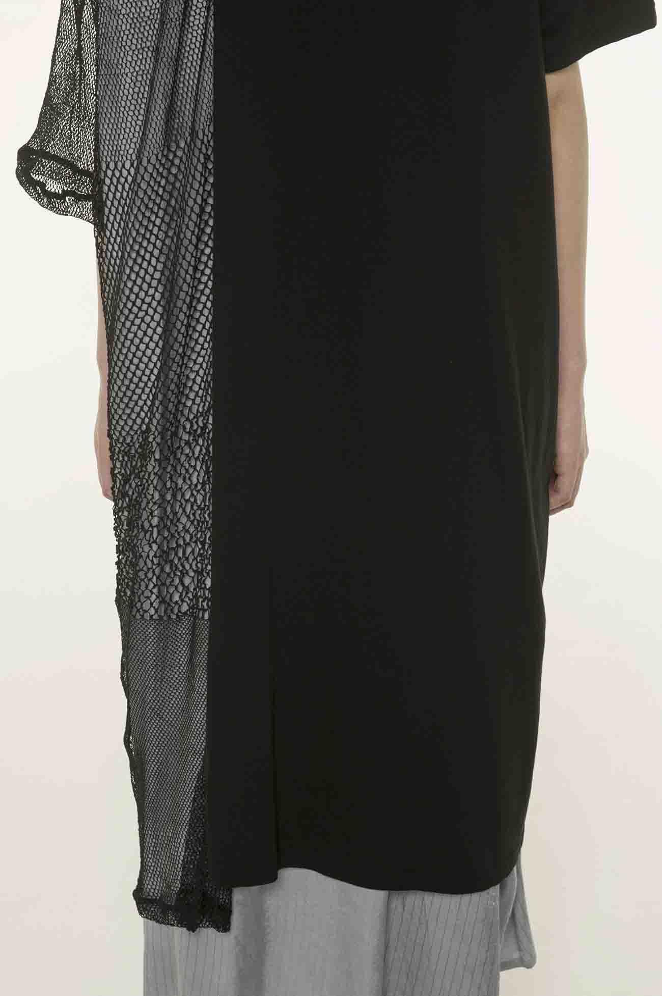 蕾丝× 纯棉 拼接不对称设计连衣裙