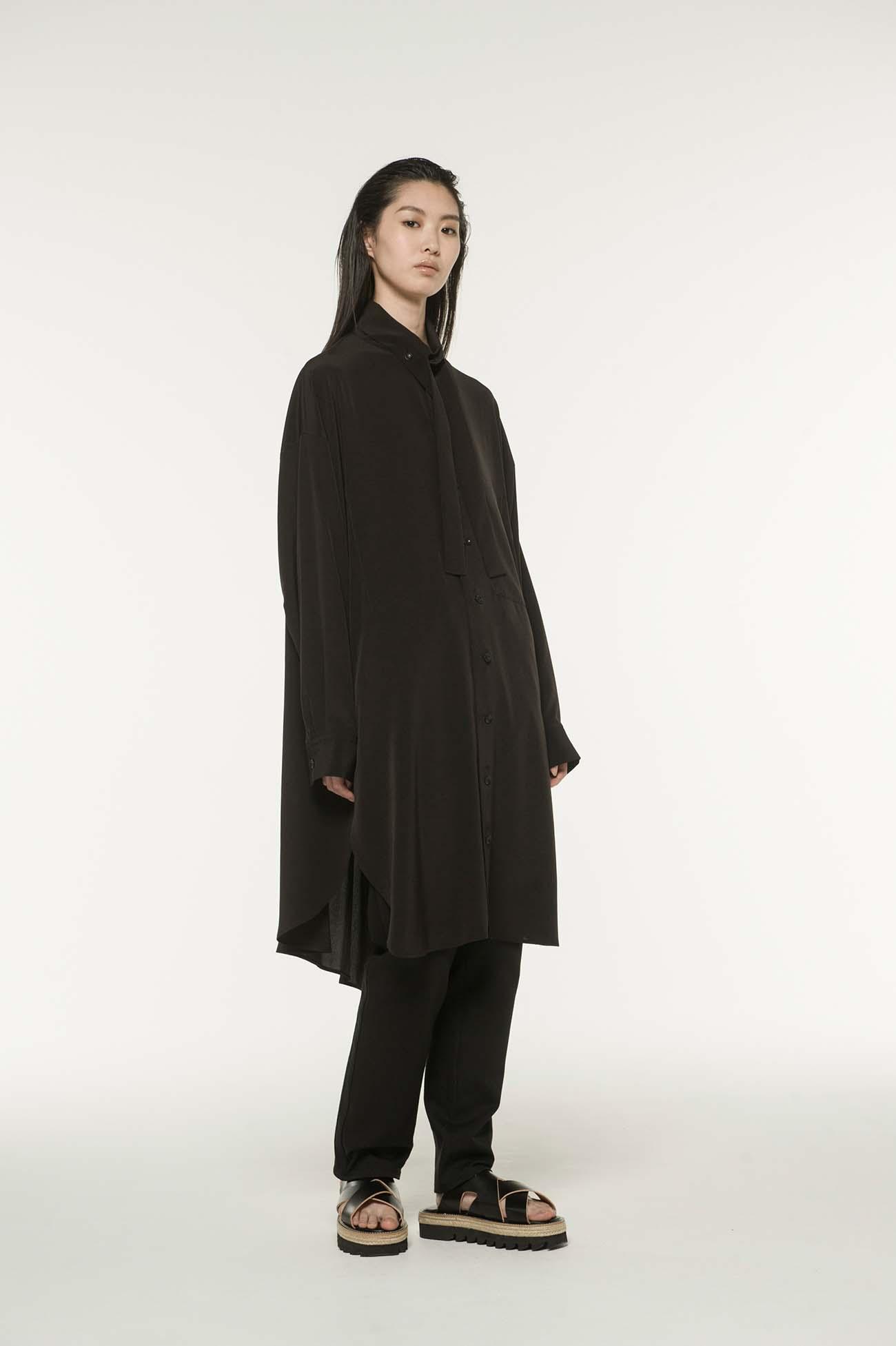 MICHIKObyY's 轻薄混纺·领结衬衫连衣裙