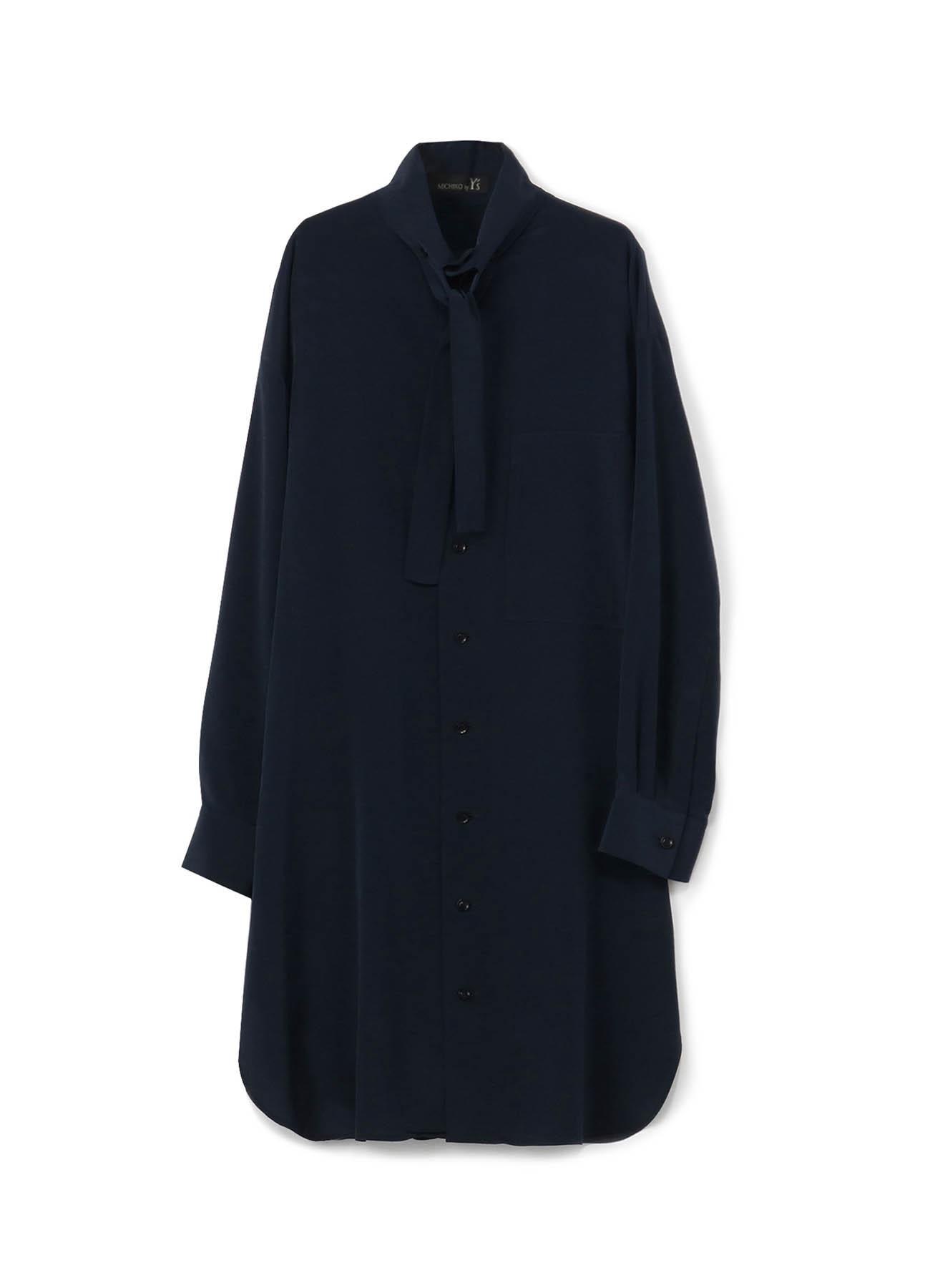 MICHIKObyY's 薄デシン タイ付シャツドレス