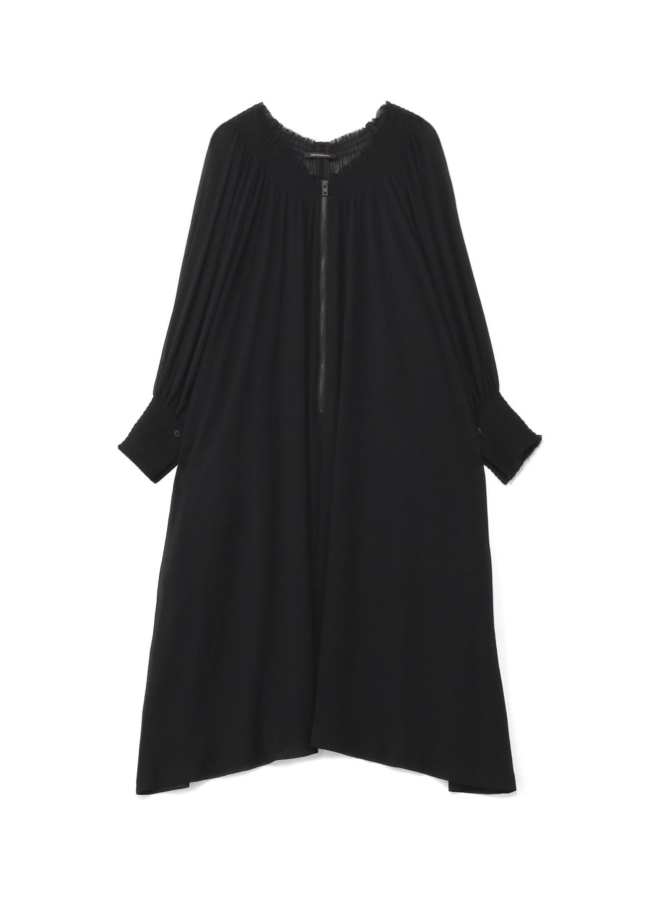 楊柳クレープ ギャザードレス