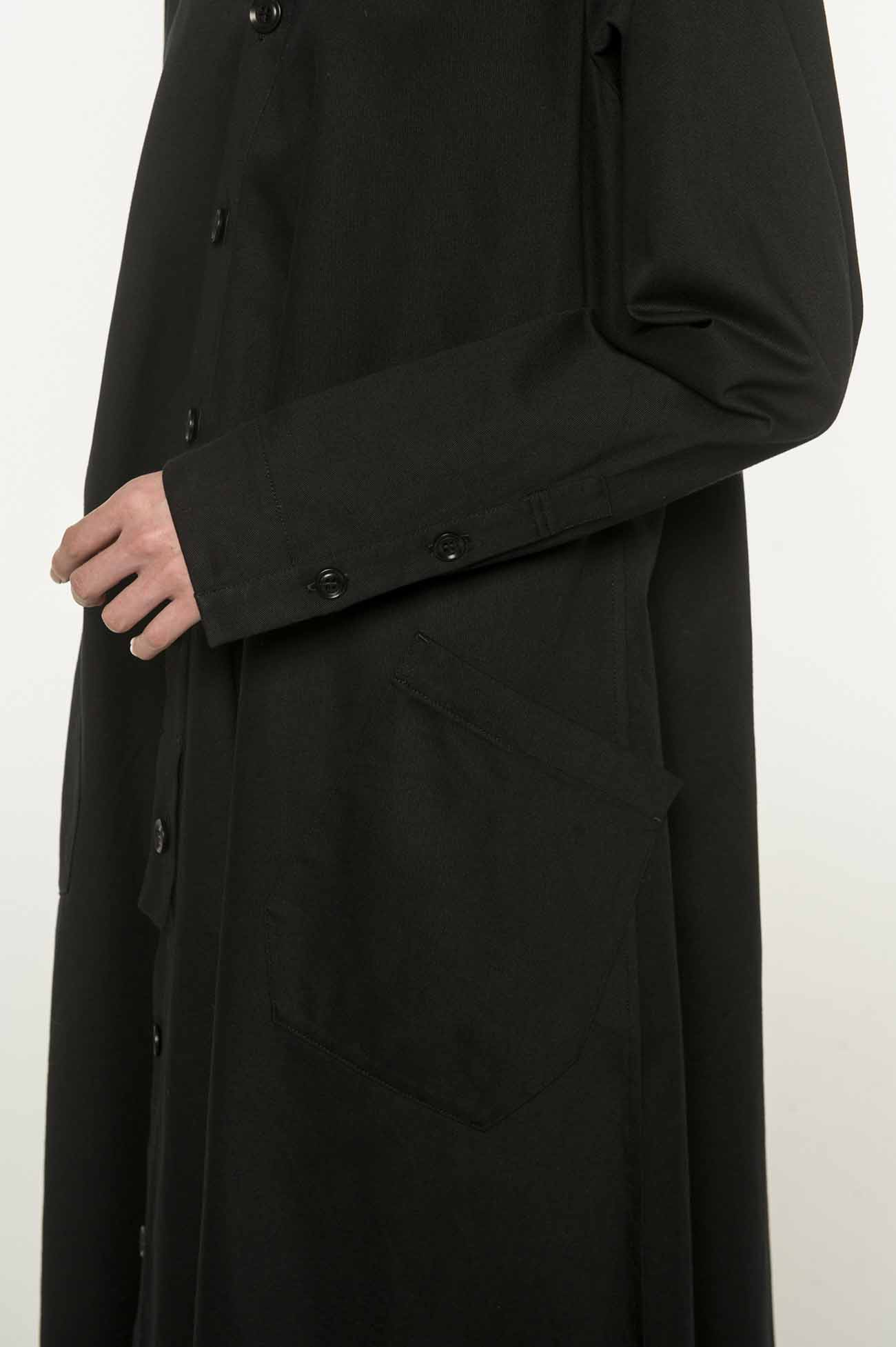 Y's-BORN PRODUCT 斜纹棉质衬衫连衣裙