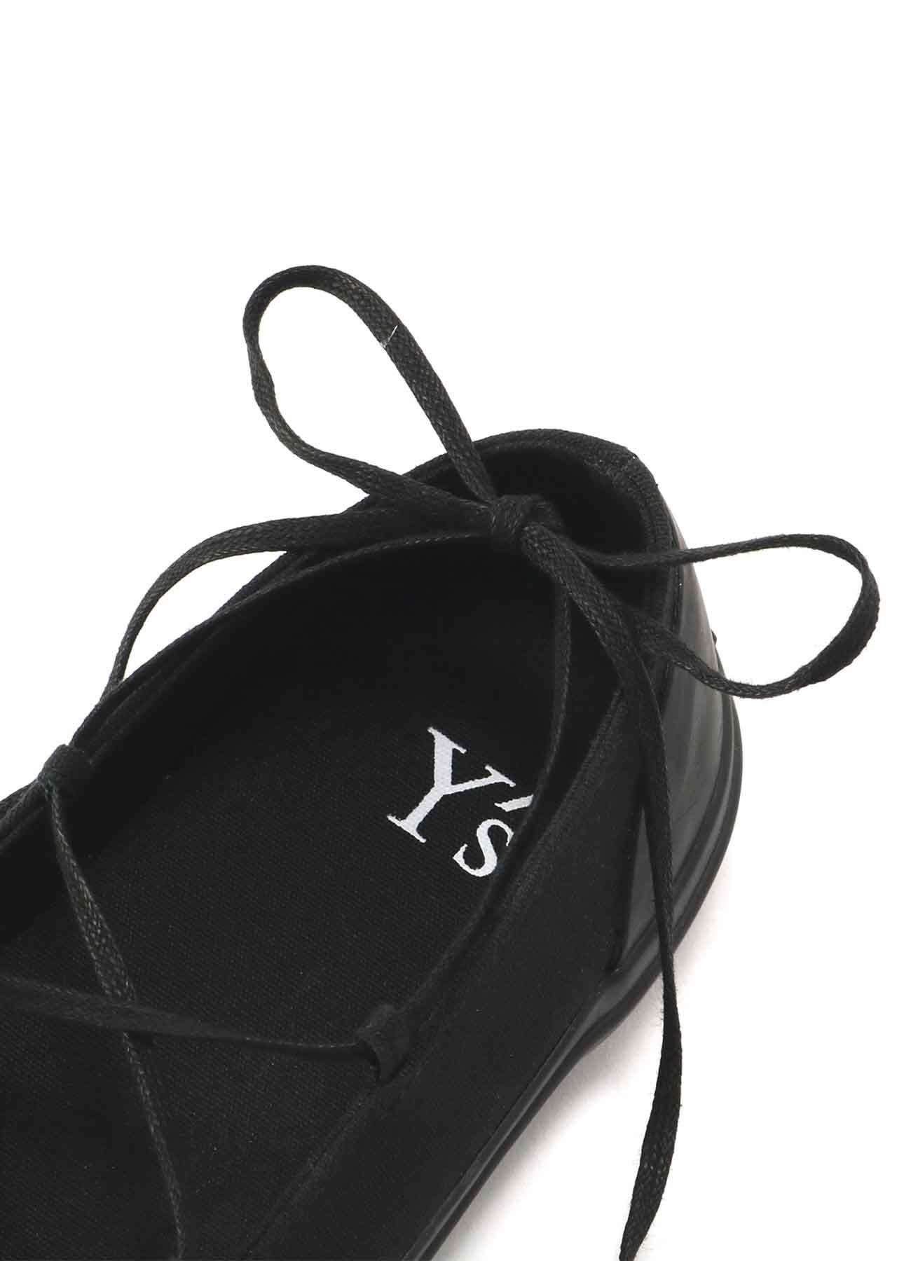 8号帆布 绑带芭蕾鞋