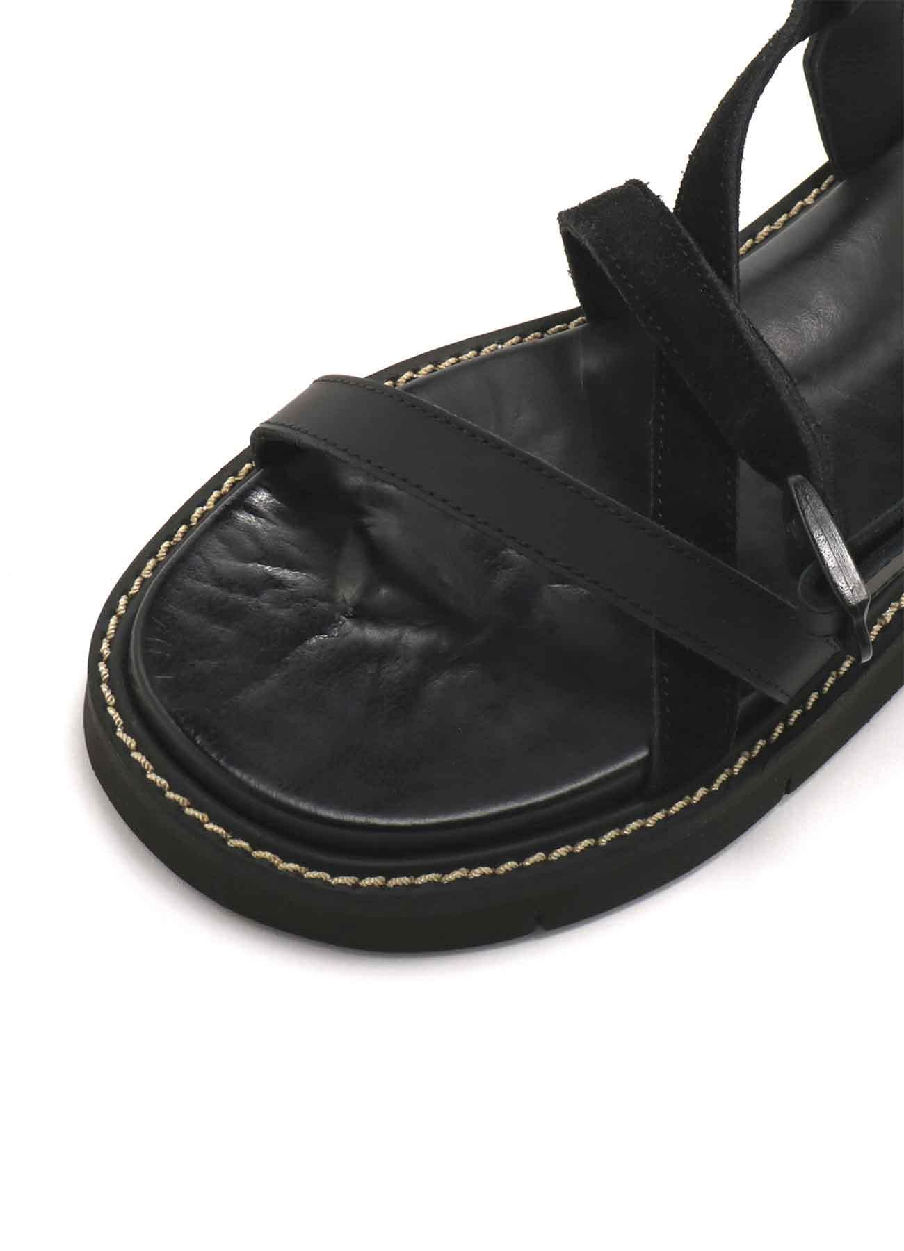 牛皮厚底凉鞋