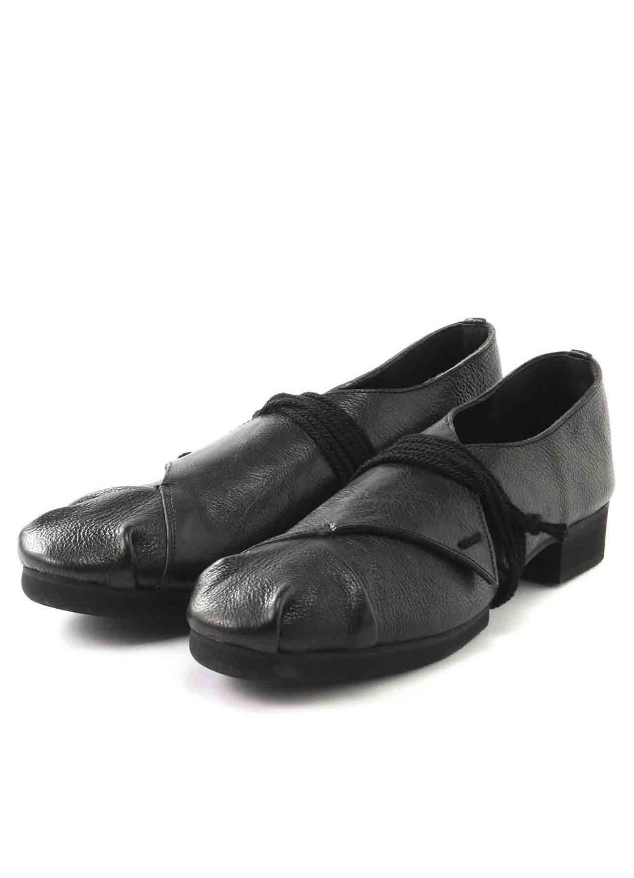 半艶ソフトレザー ぐるぐる短靴