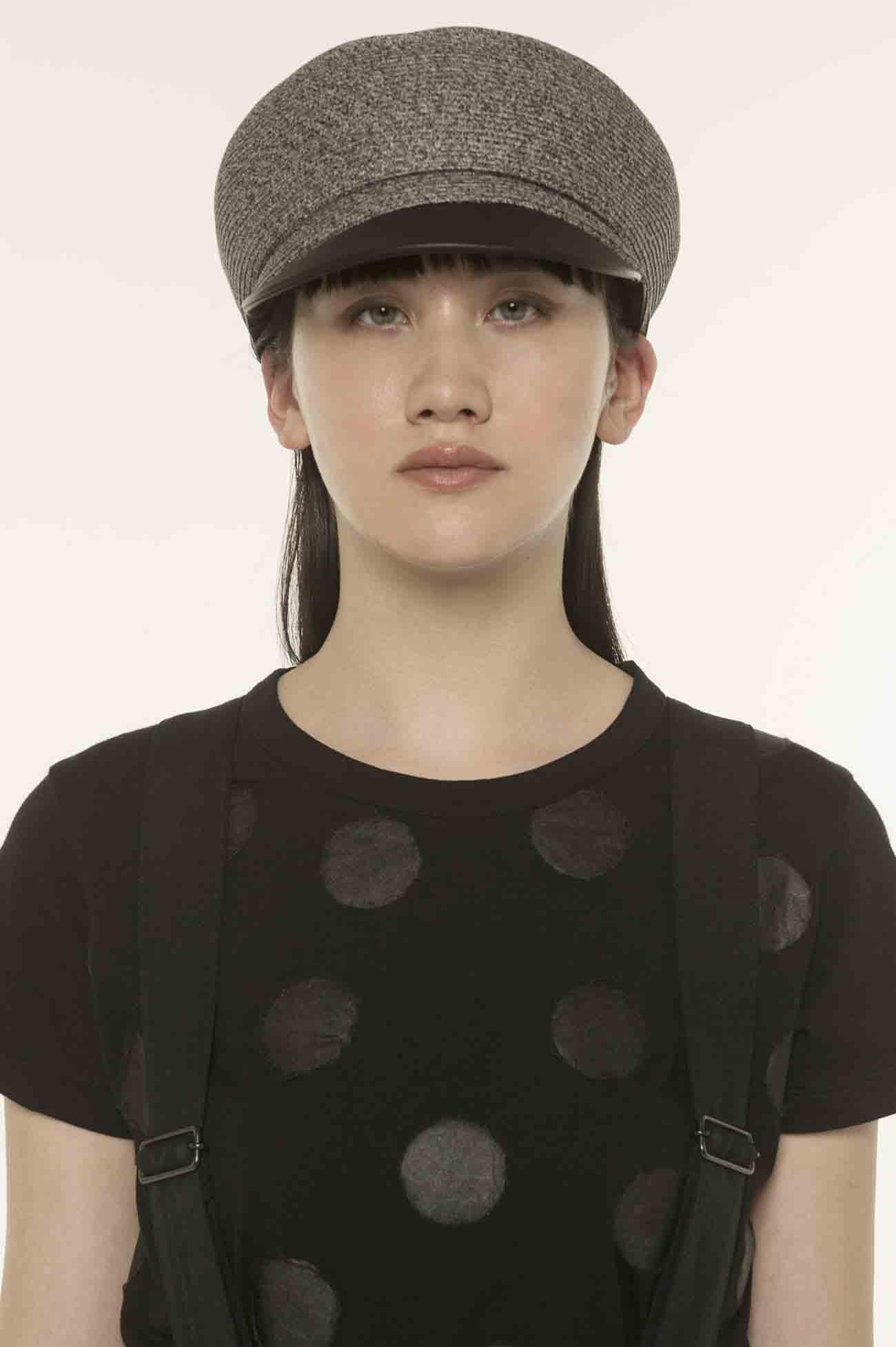 纸 × 牛皮 组合素材报童帽