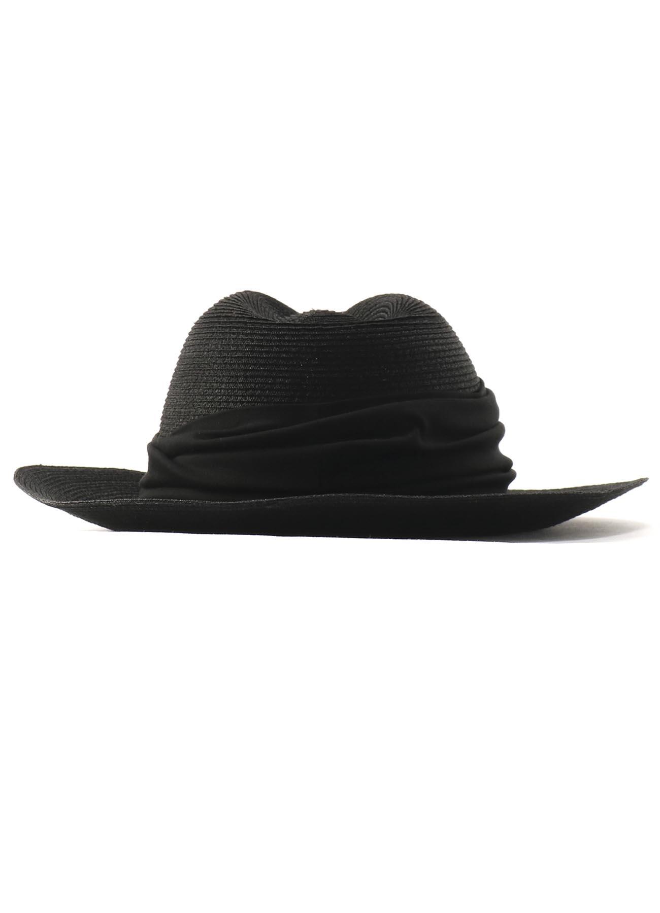 麻制宽檐帽