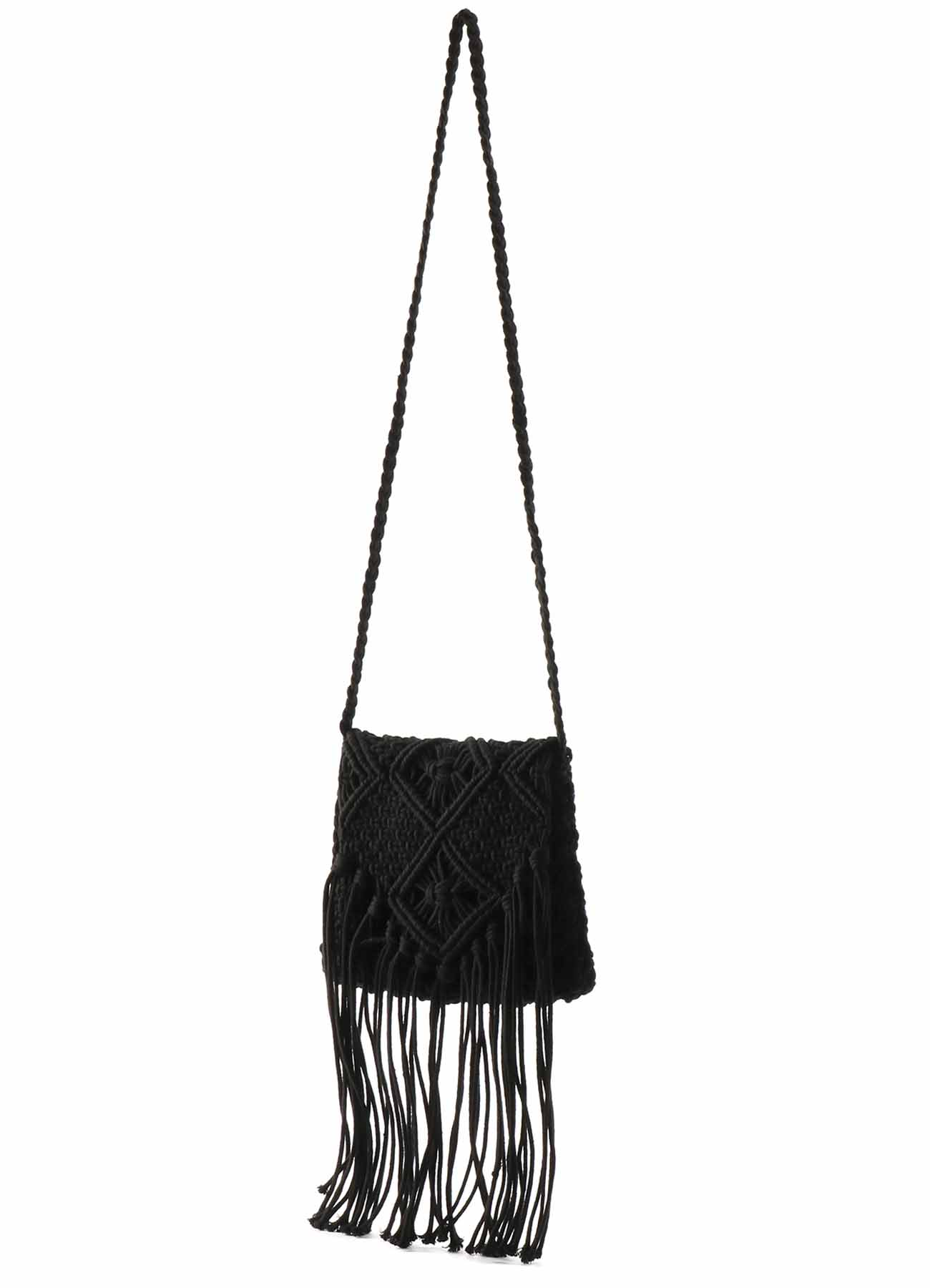 マクラメ編み フラップバッグ