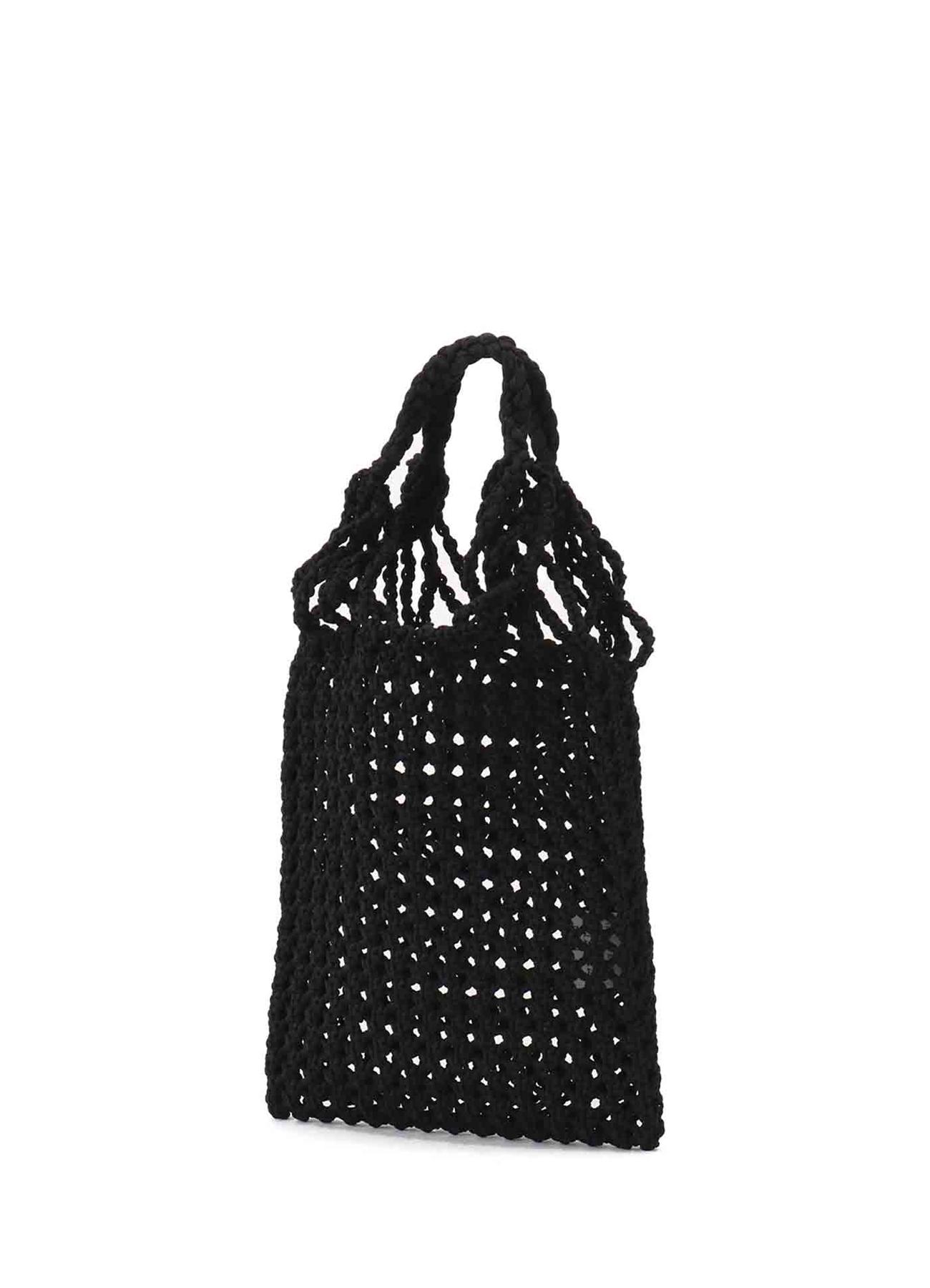 スパークポリエステル ハンドメイド編みハンドバッグ