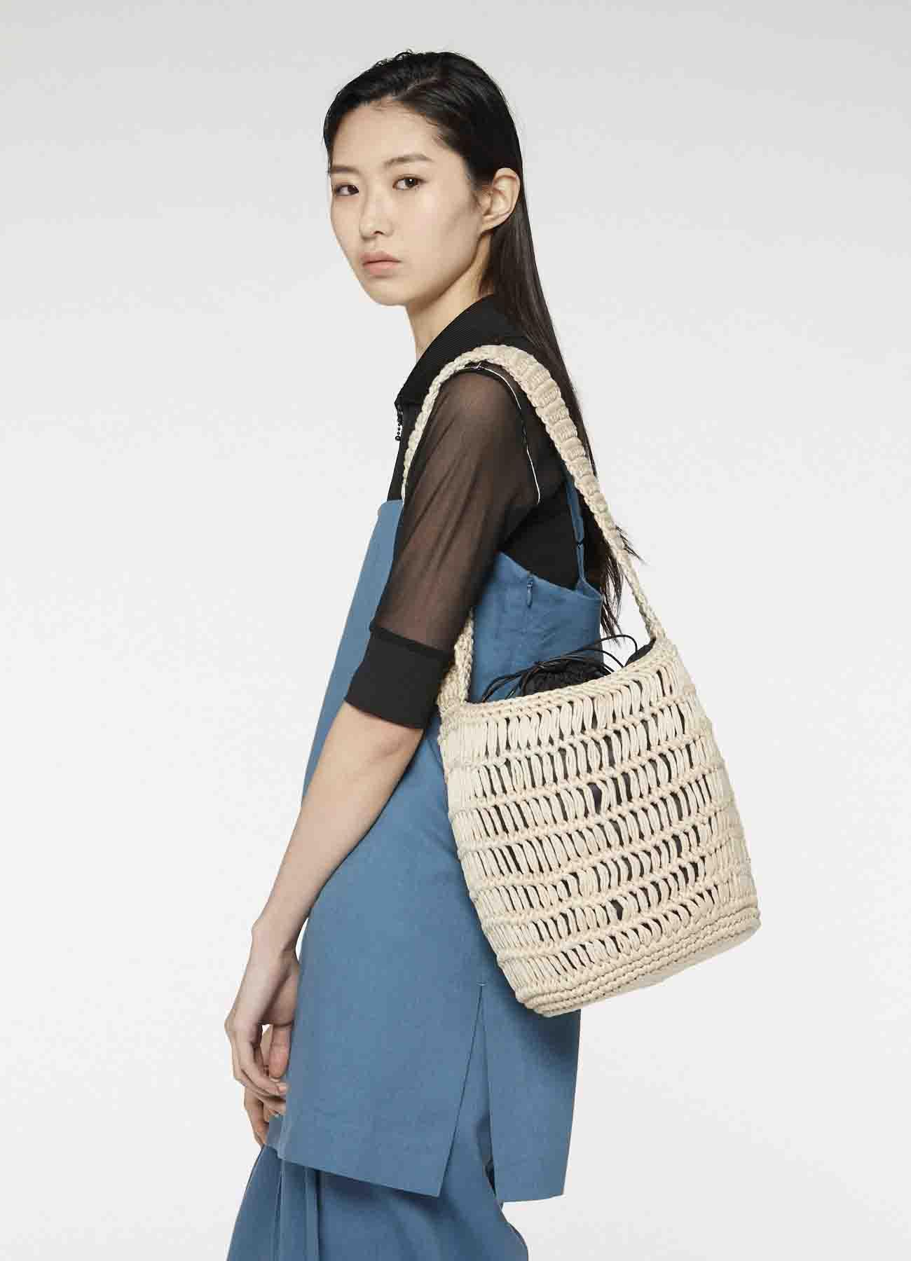 棉制编织圆筒包