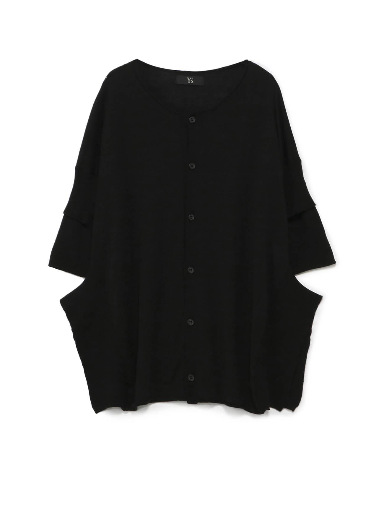 混纺层叠袖口开衫