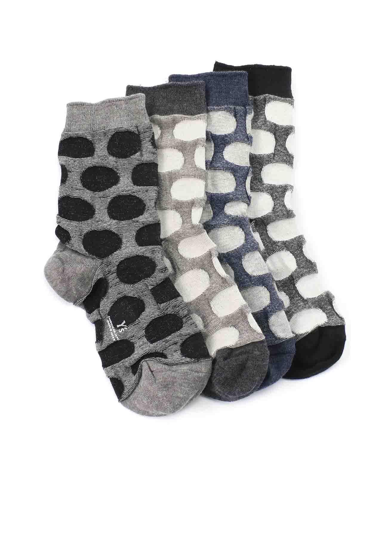 混纺圆点袜