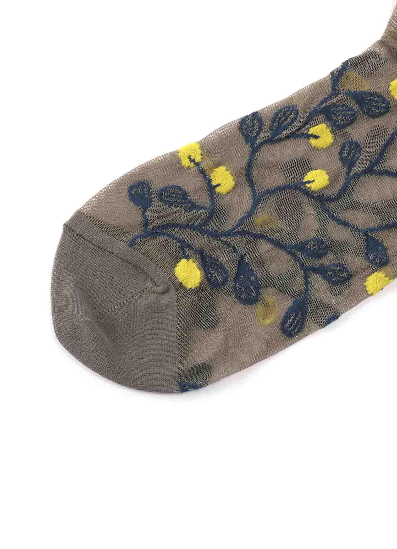 多彩刺绣尼龙袜