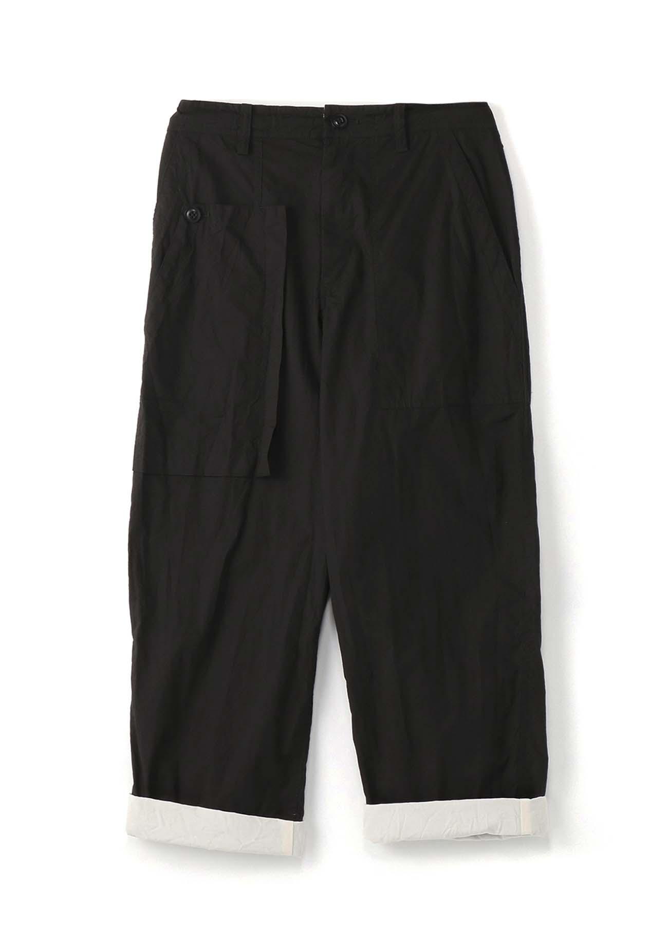 色棉打字机产品不对称口袋裤