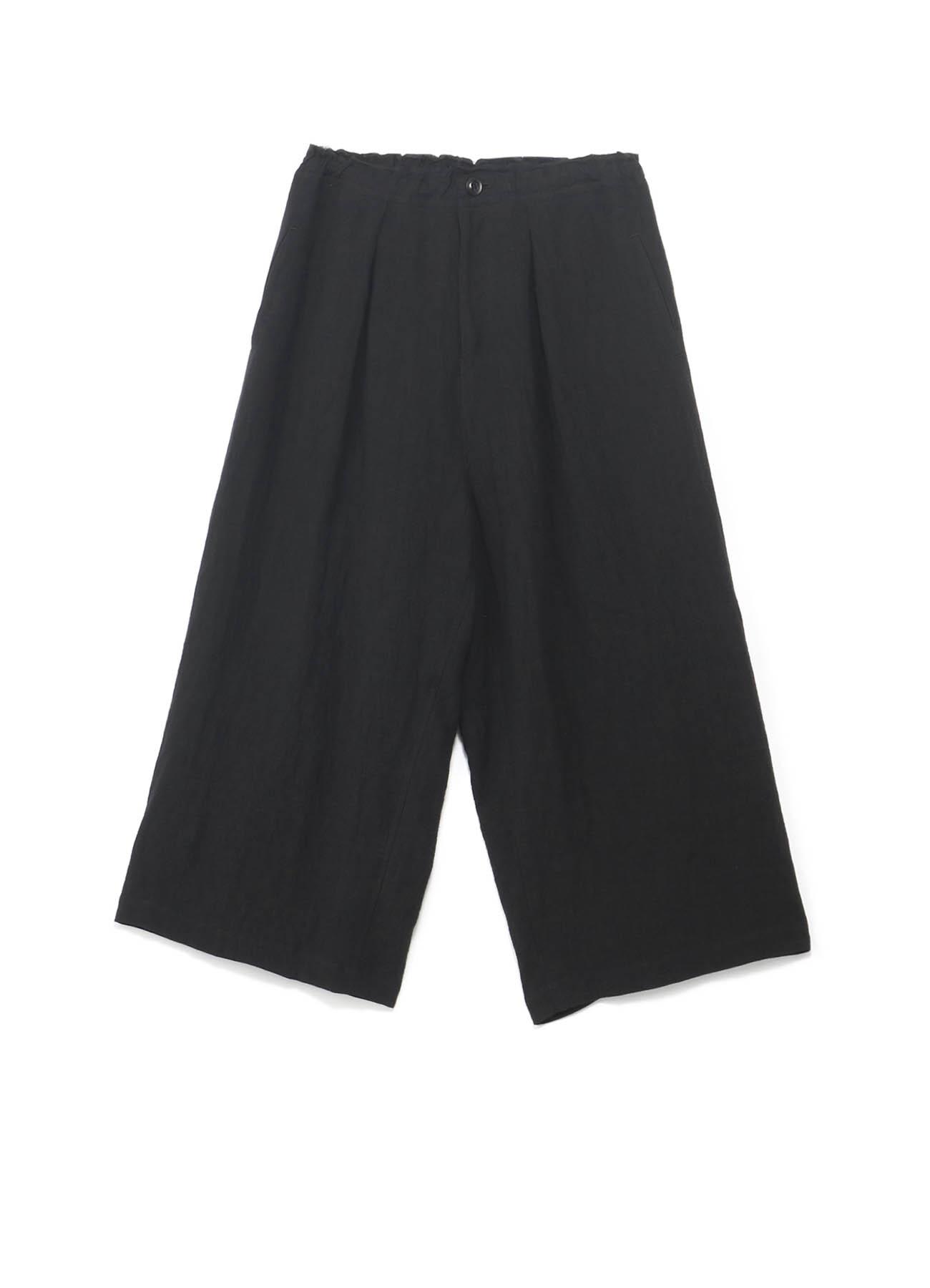 亚麻DTW Tachikiri皮带厚裤