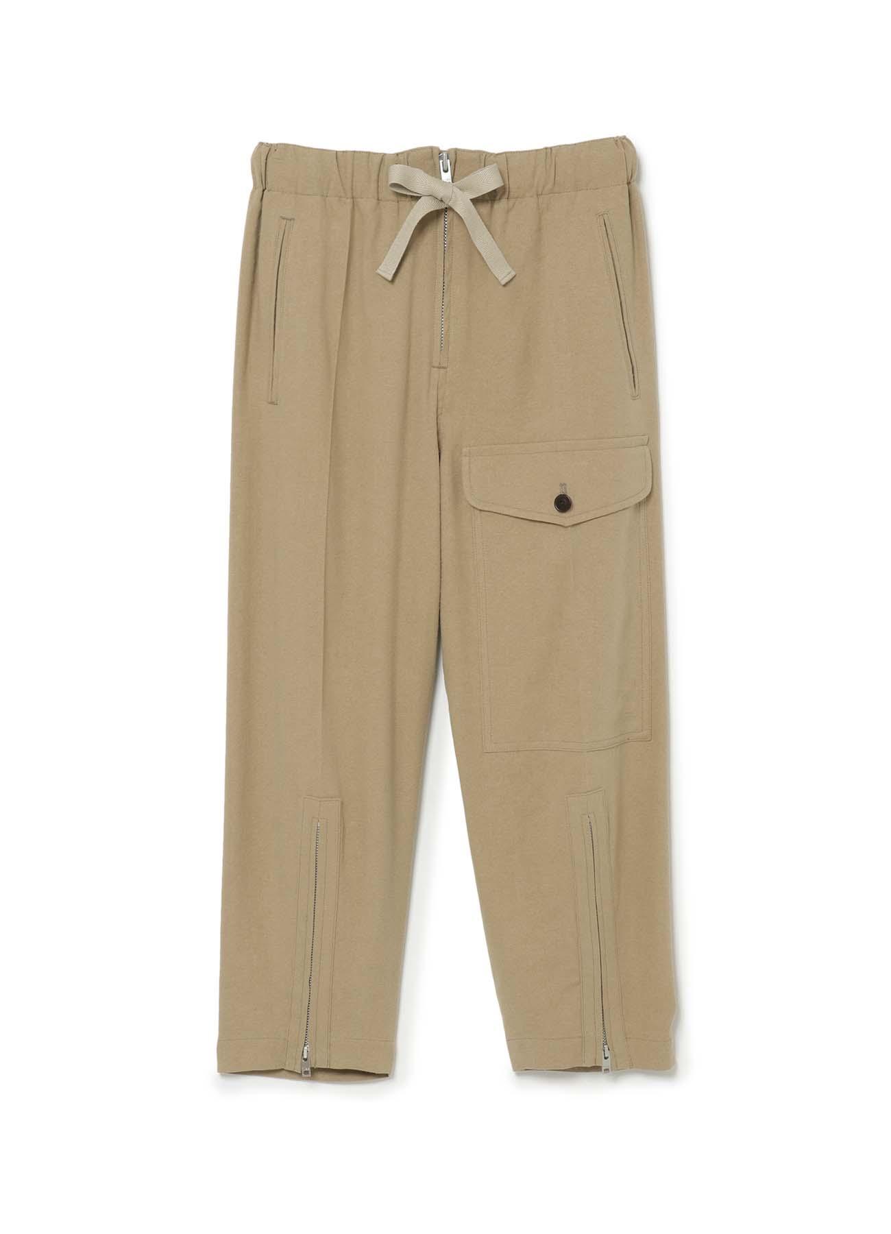 Shabby chic silk Linen Cloth ポケットパンツ