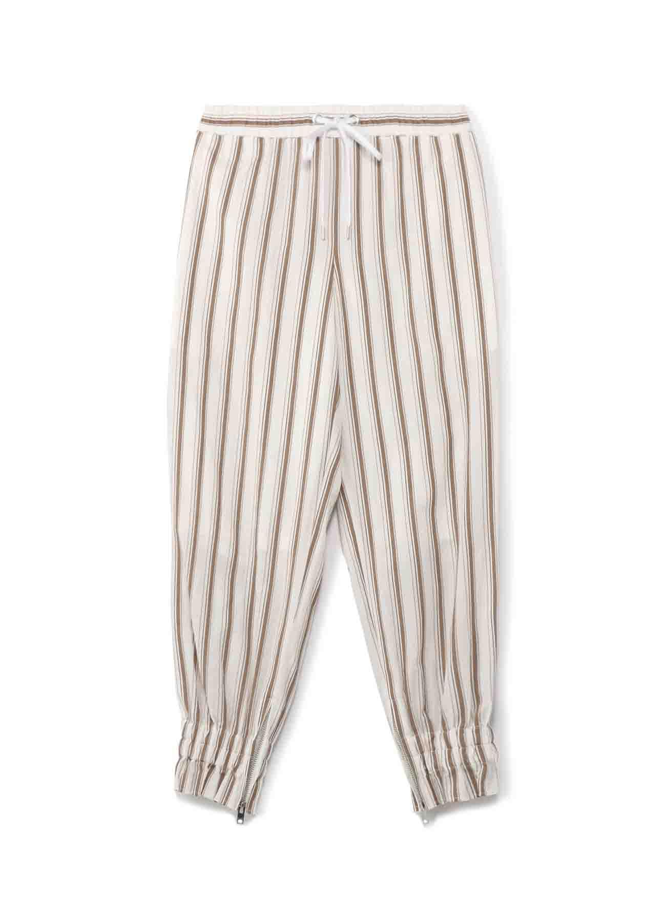 先染めムラネップツイル 裾ゴム入パンツ