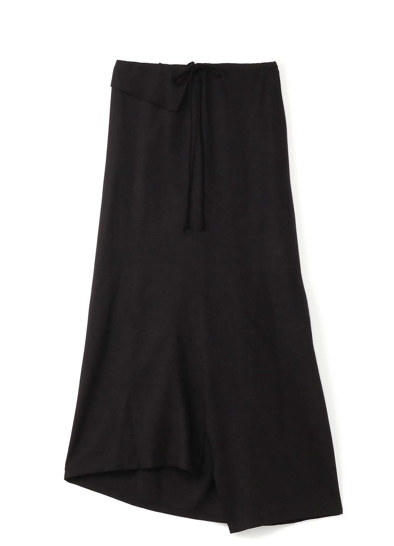 人造丝×亚麻混纺 轻薄不对称半身裙
