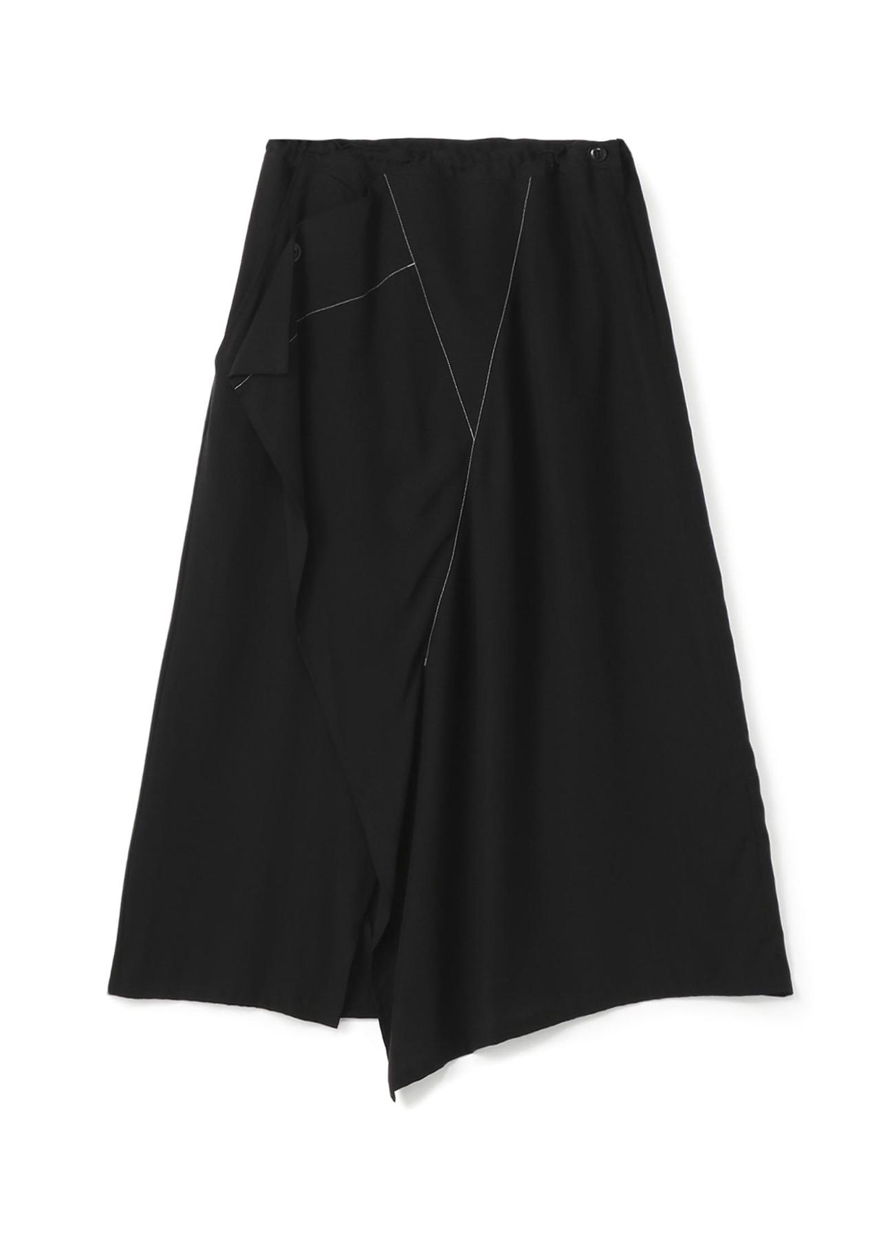 天丝丝府绸三角拼接喇叭半身裙