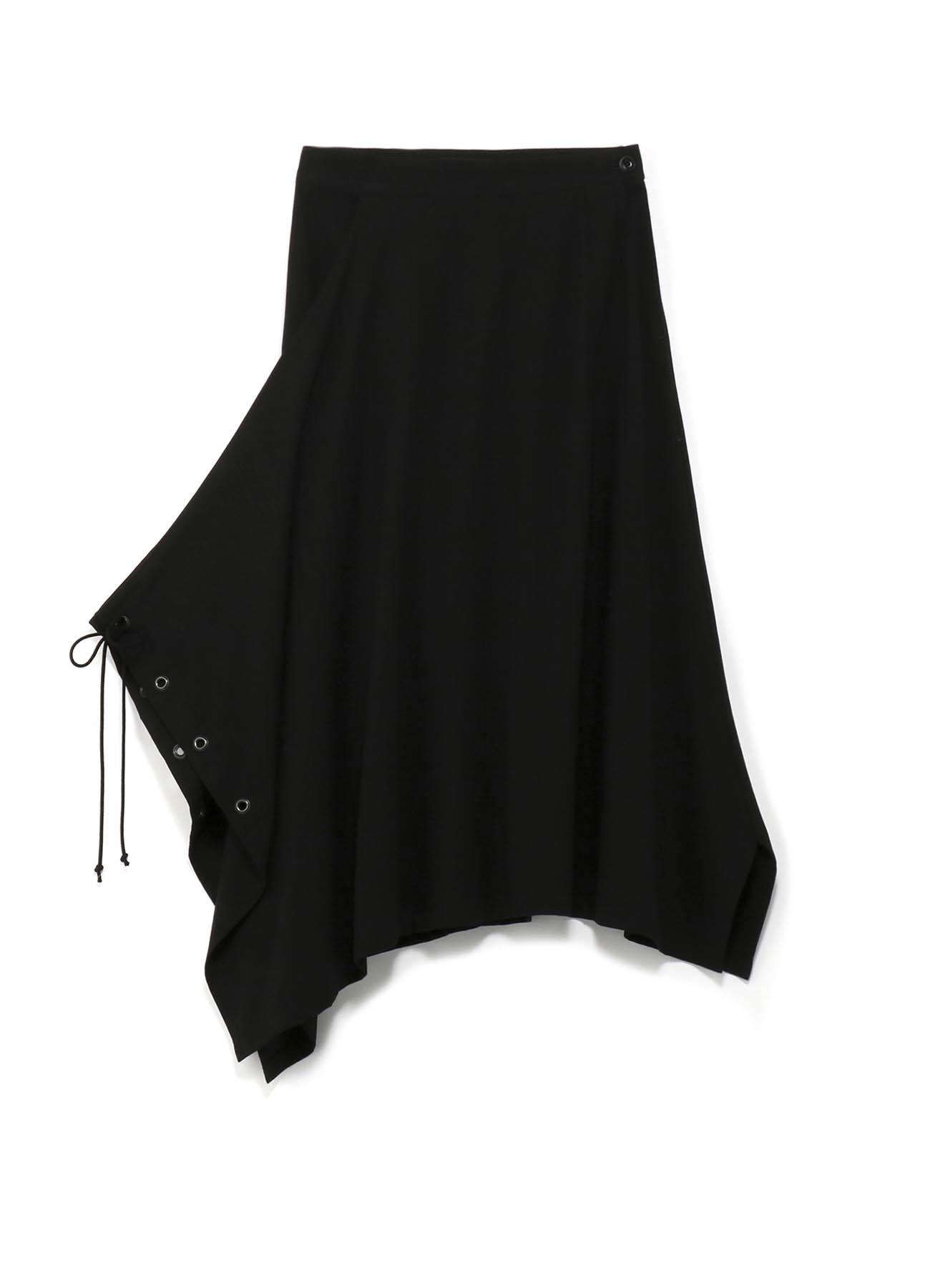 不对称设计抽绳半身裙