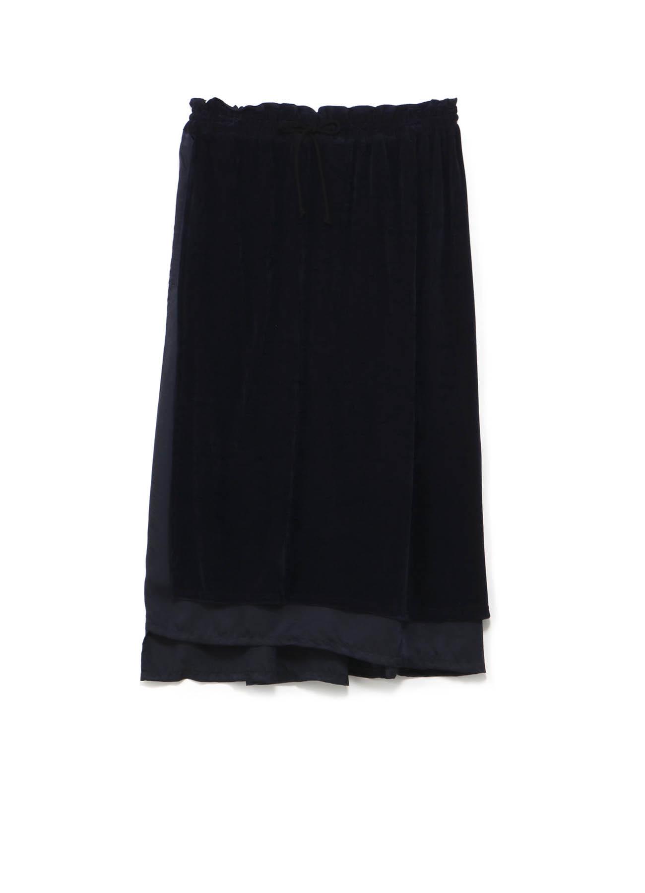 多种素材组合拼接半身裙