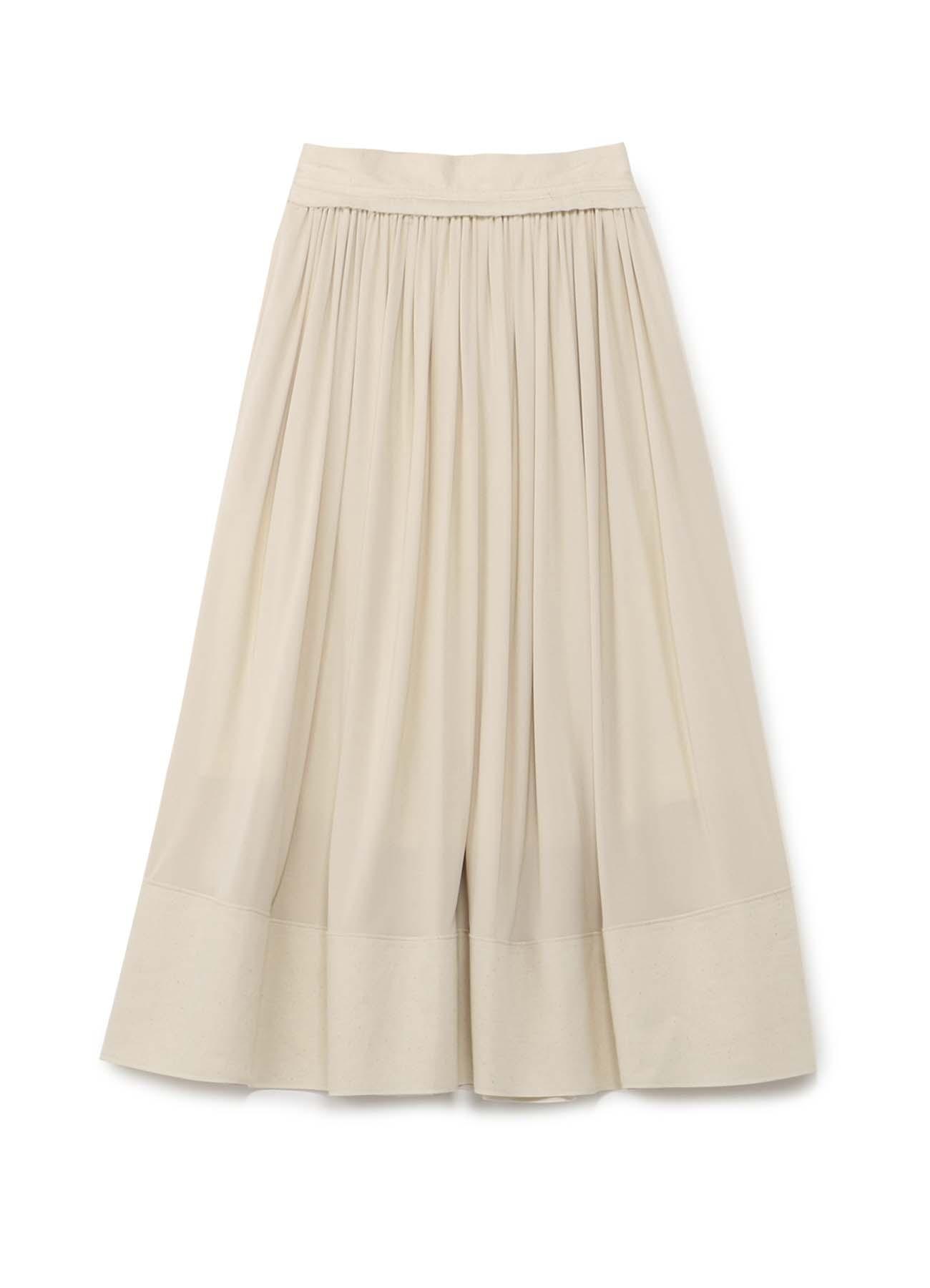 异素材拼接百褶半身裙