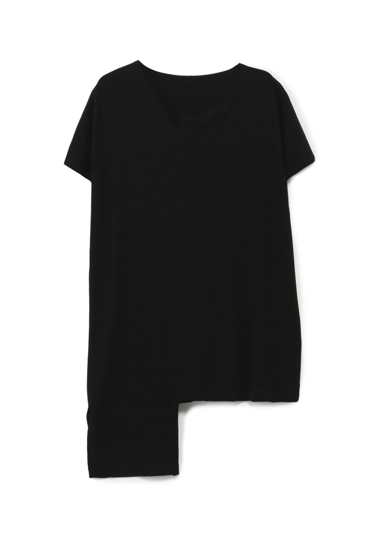 強撚ミラノリブ アシンメトリーフレンチスリーブTシャツ