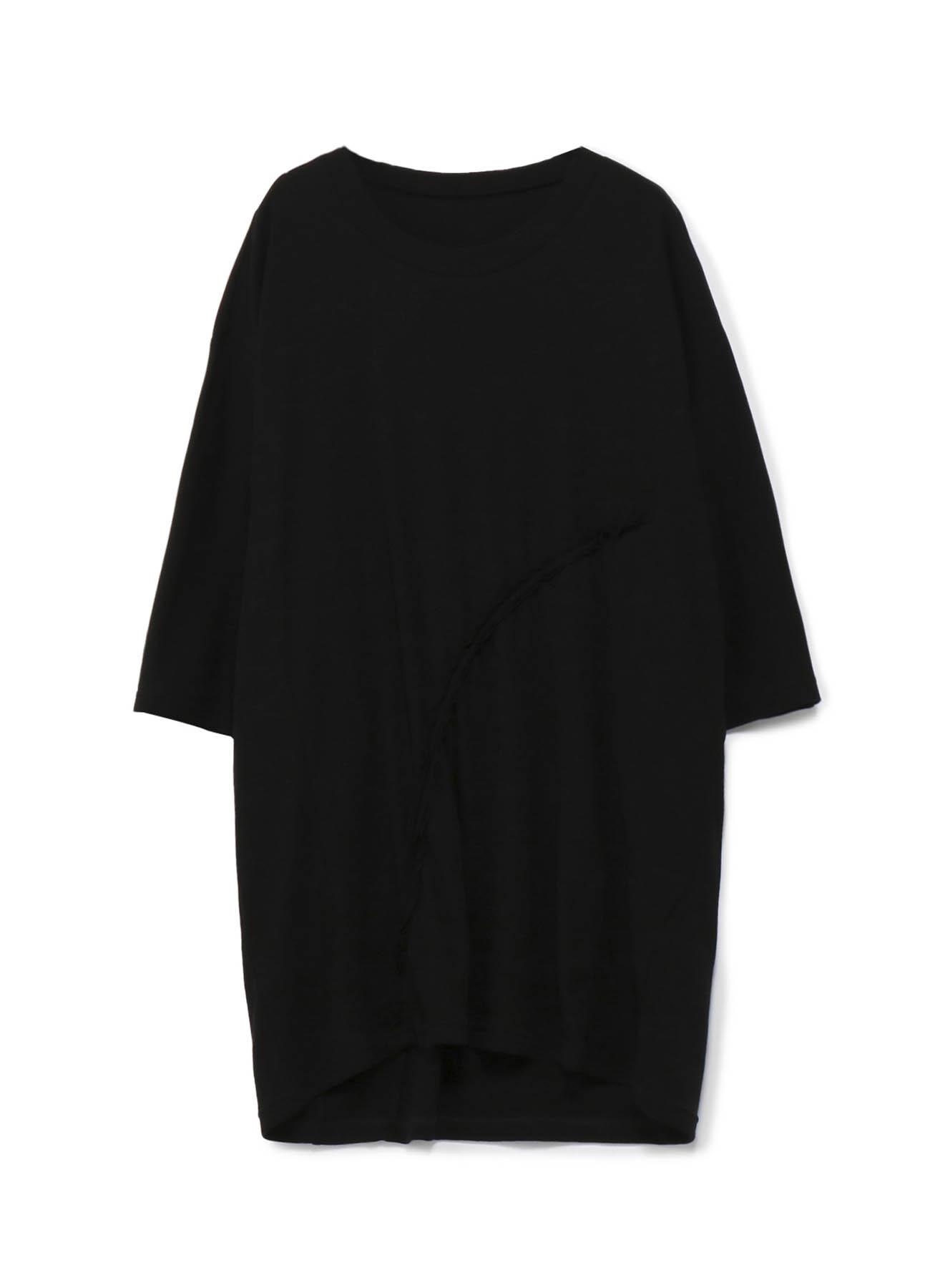 強撚ミラノリブ ギャザービッグTシャツ