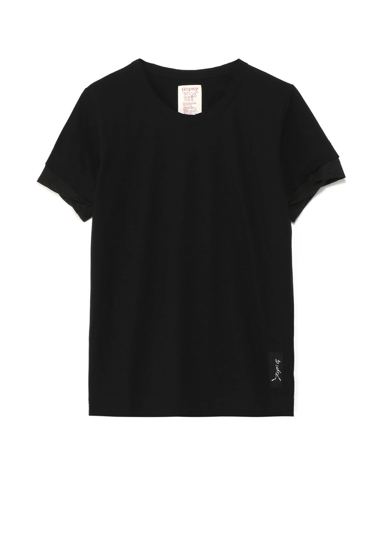 Gipsy コットン×リネン 袖口ねじれTシャツ