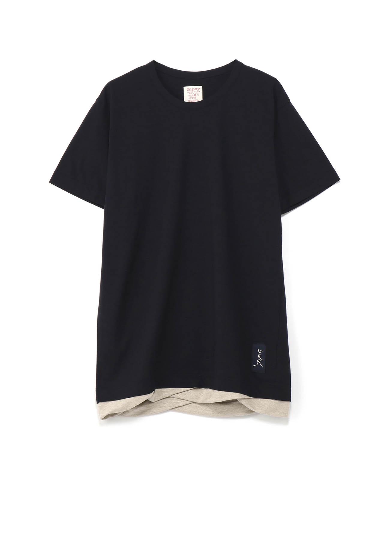 Gipsy コットン×リネン 裾ねじれビッグTシャツ