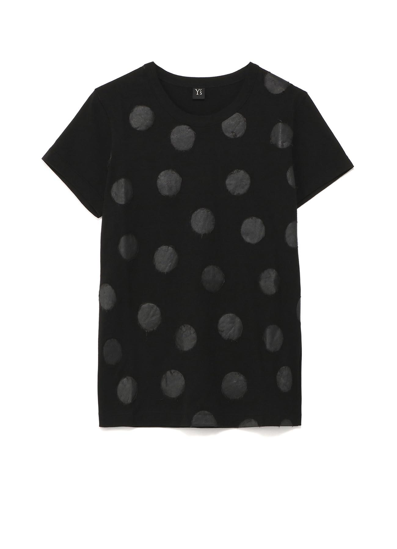 圆点印花圆领短袖T恤