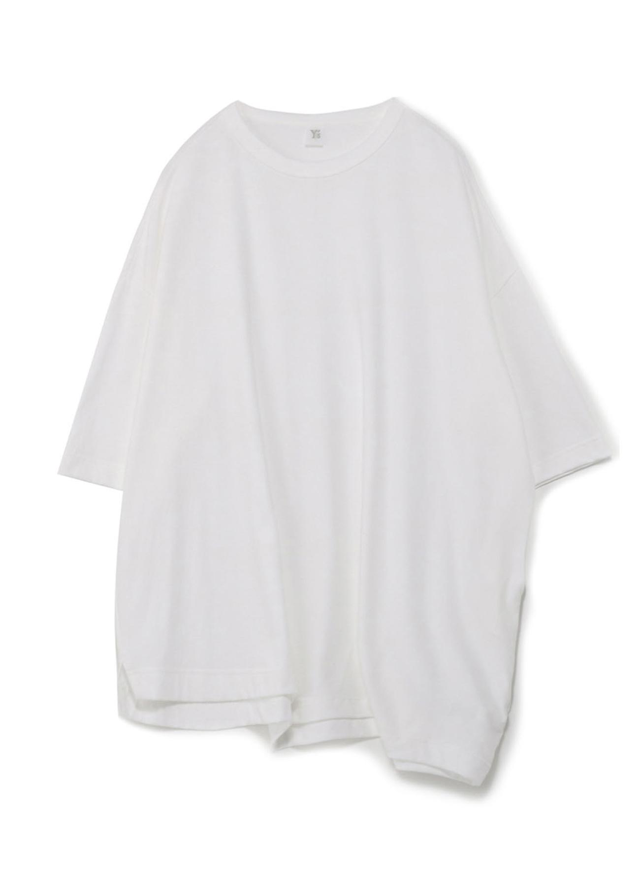 コットン天竺 脇ドレープTシャツ