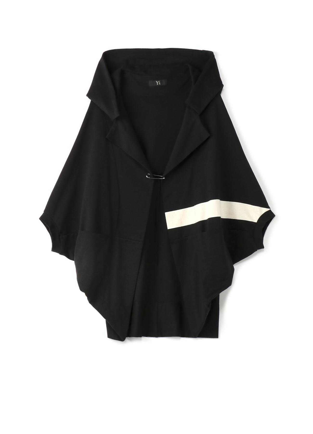 棉质面板边框法式袖开衫