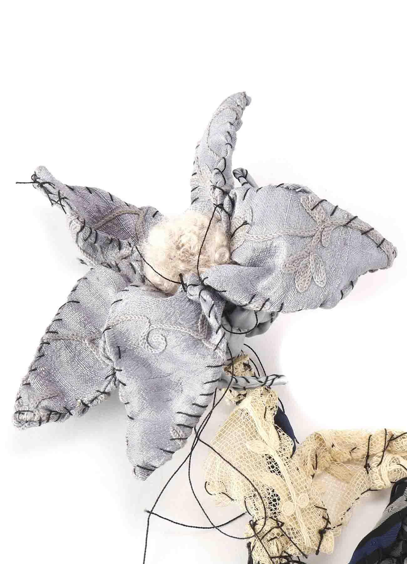 Y's ×Anne-Valerie Dupond的Fleur Flower PIECE UNIQUE KAYO NAMAMURA