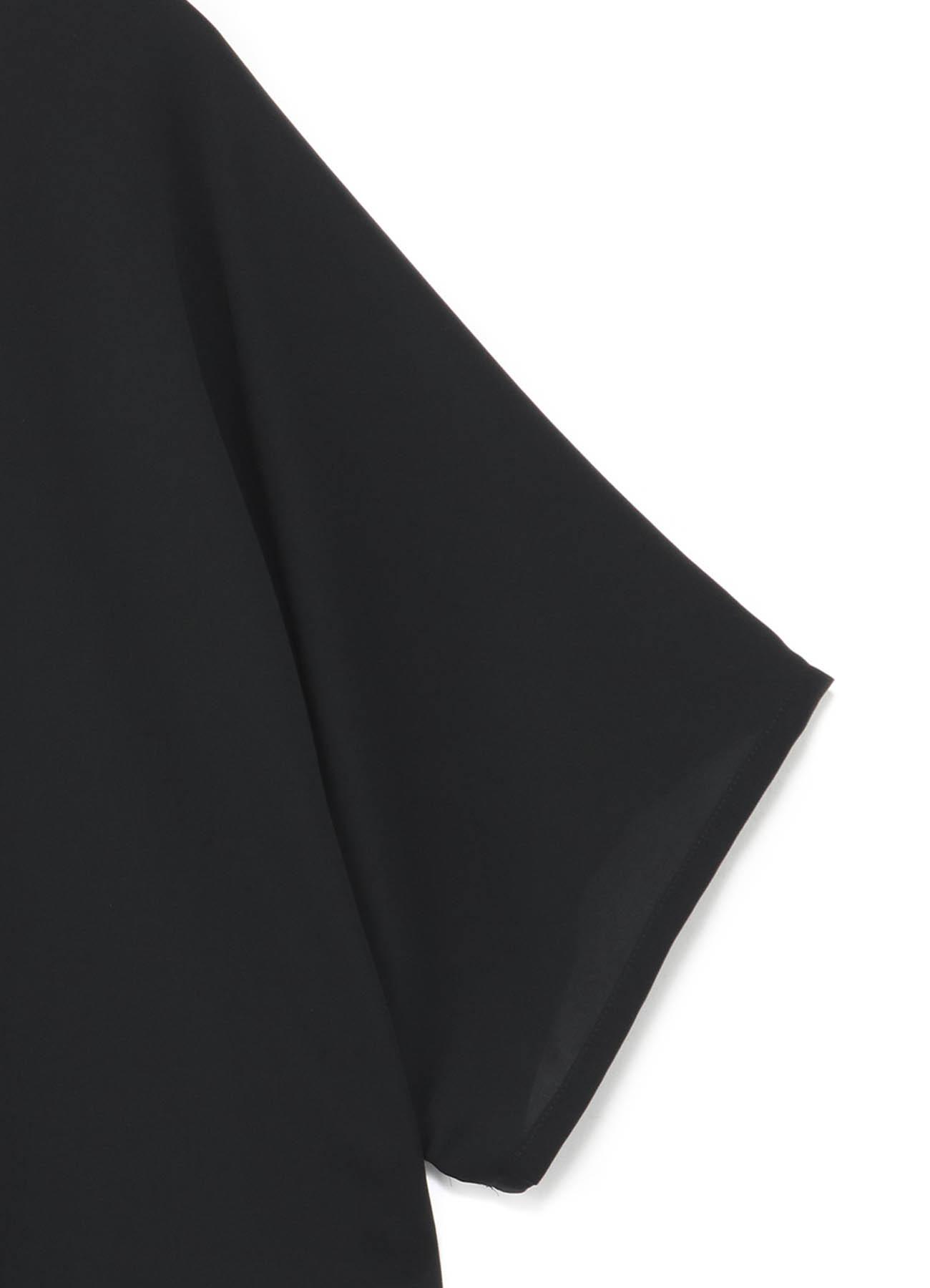 トリアセテート×ポリエステル 半袖ブラウス