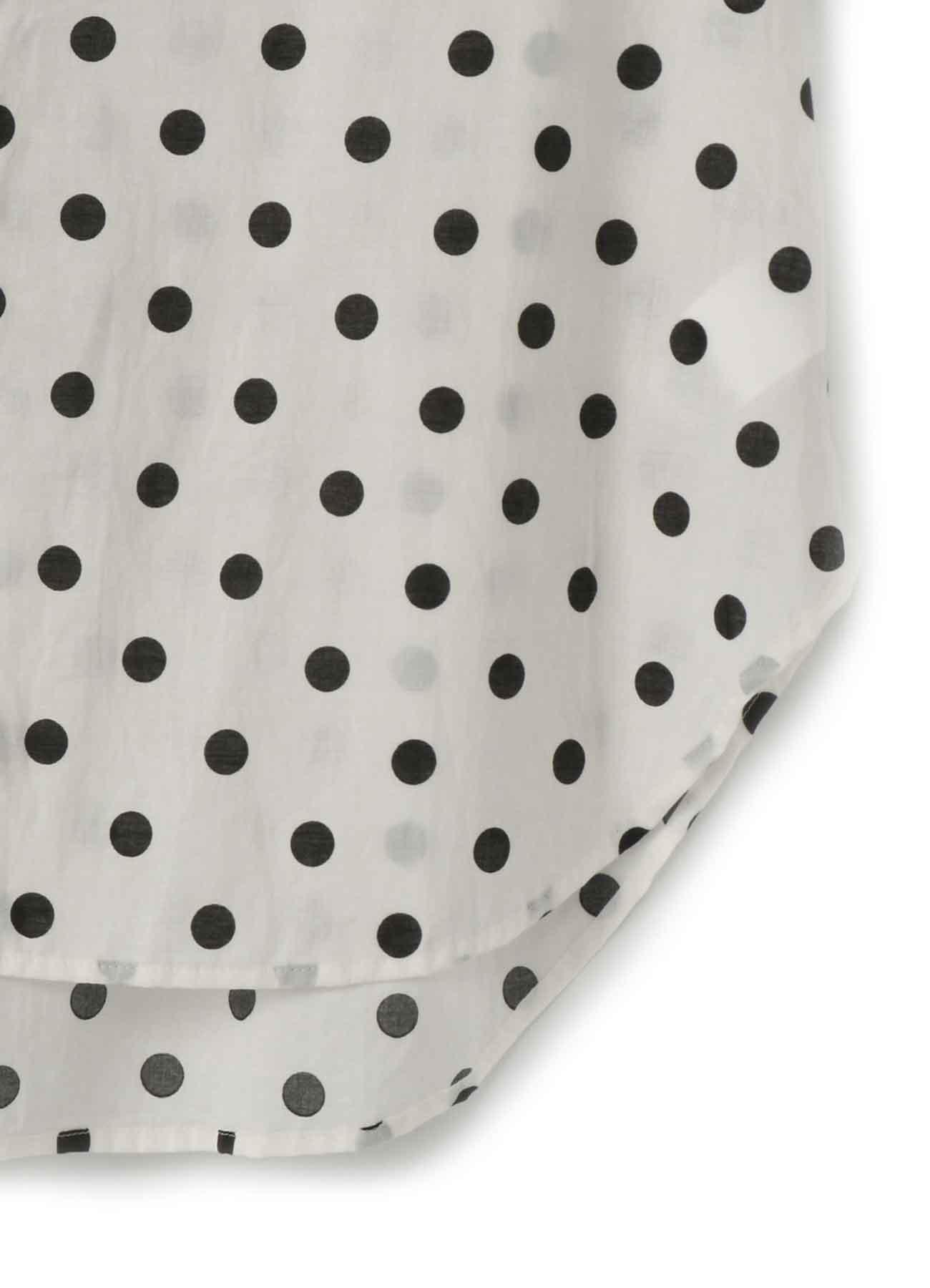棉草坪圆点印花短袖女衬衫