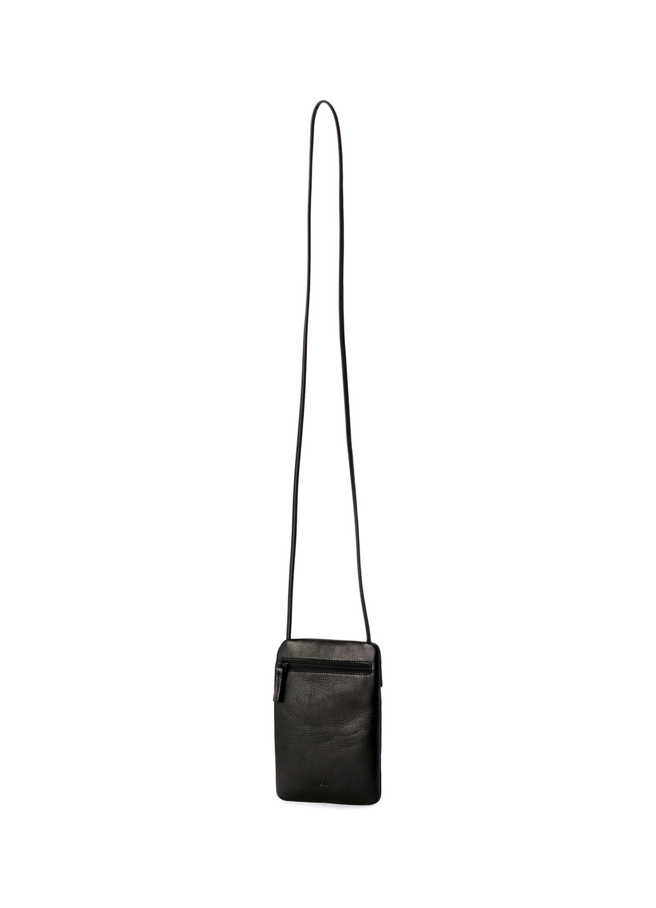 黑色皮革智能手机袋