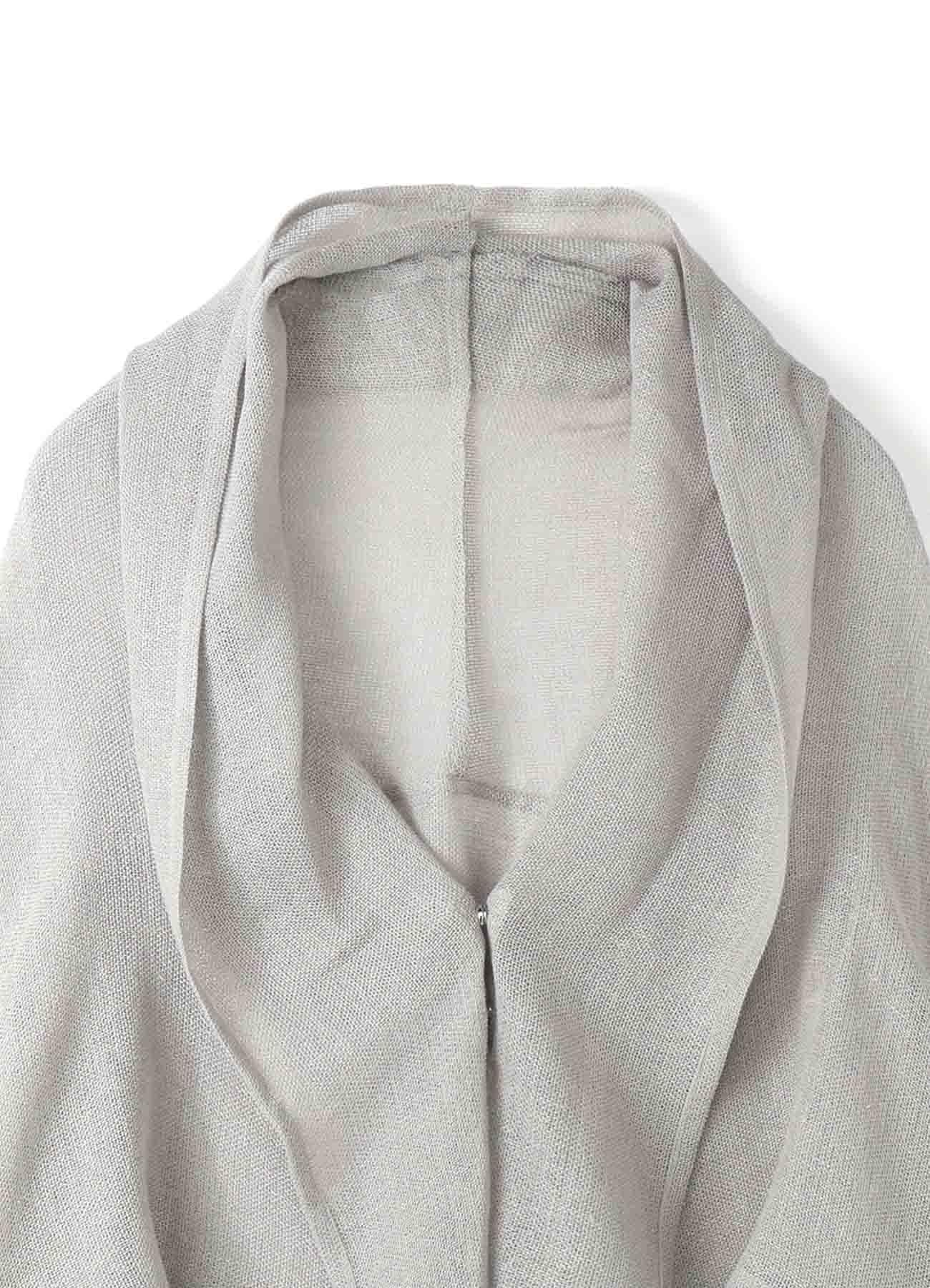 亚麻人造尼龙Karami编织披肩针织开衫